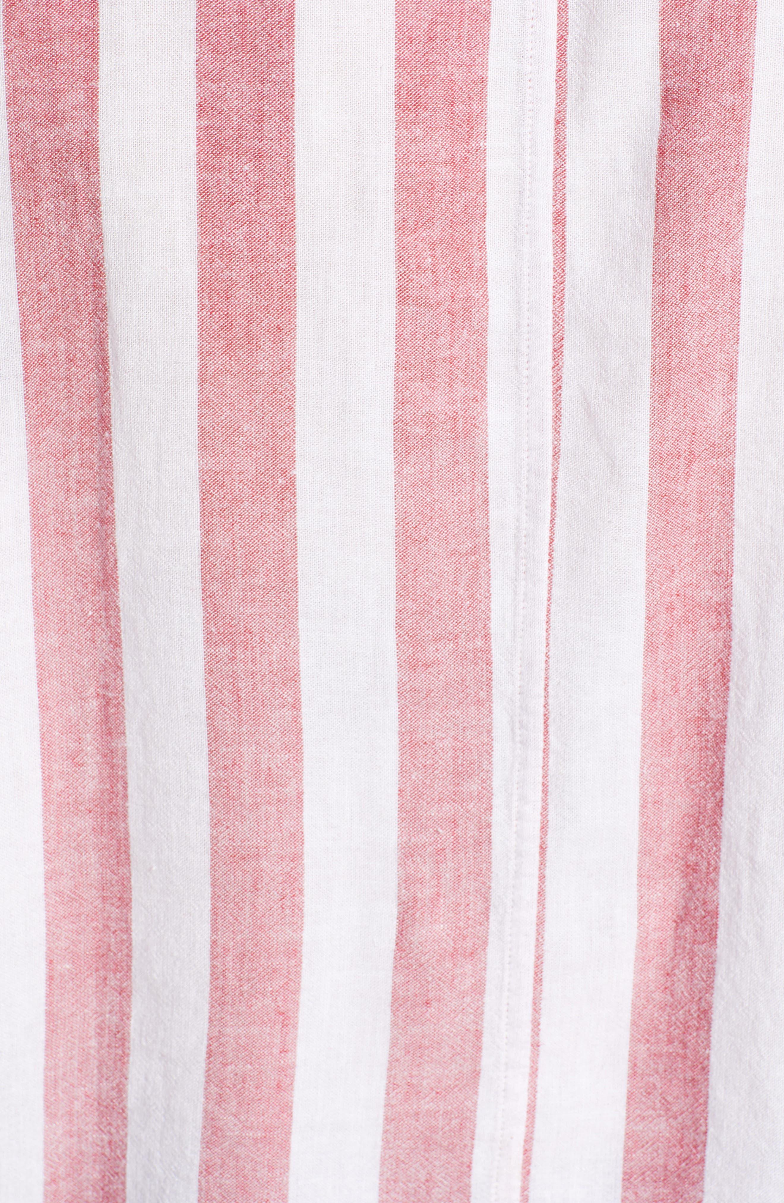 Thea Tie Waist Blouse,                             Alternate thumbnail 3, color,                             Seville Stripe