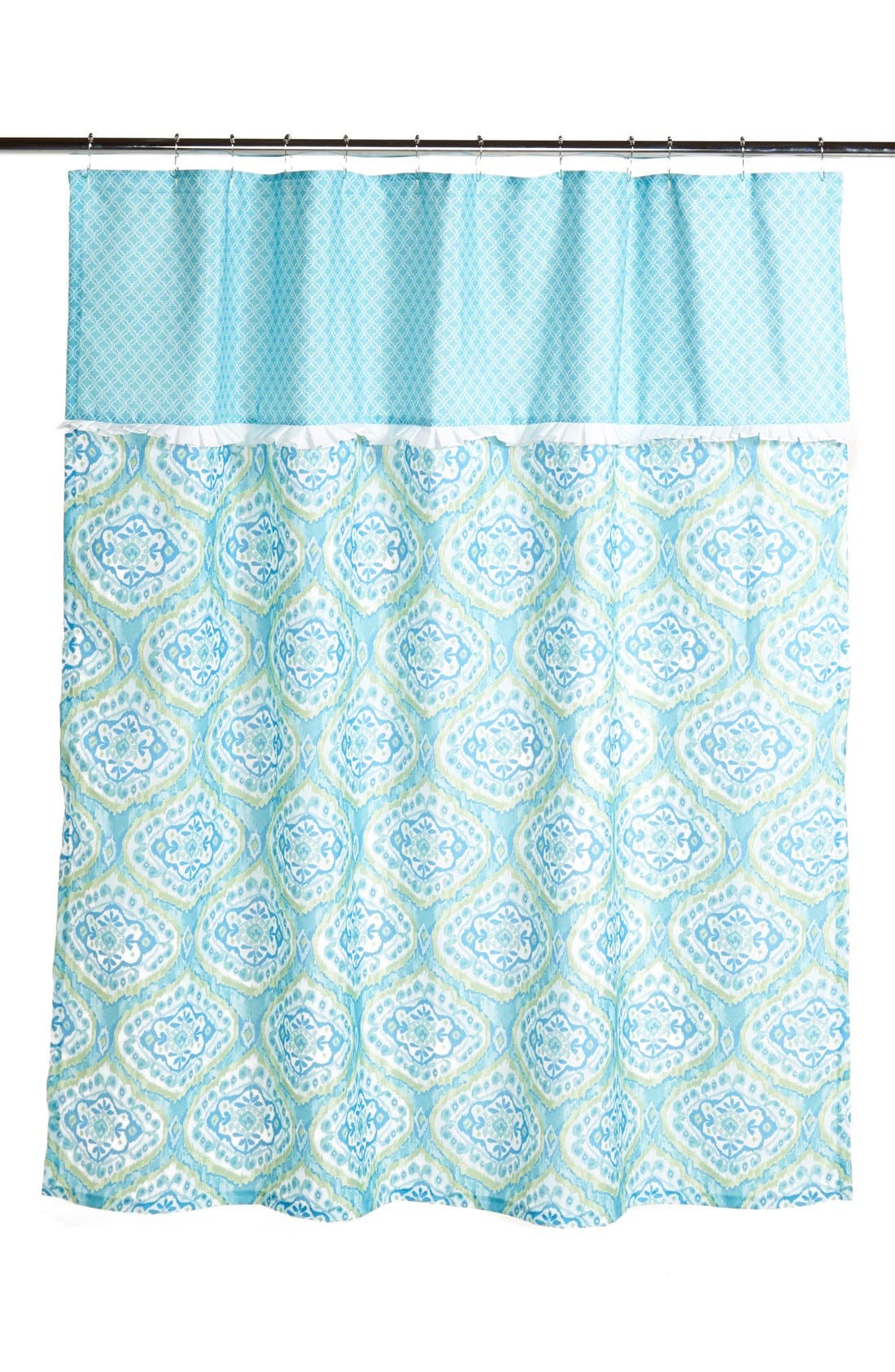 'Tangiers' Shower Curtain,                         Main,                         color, Aqua