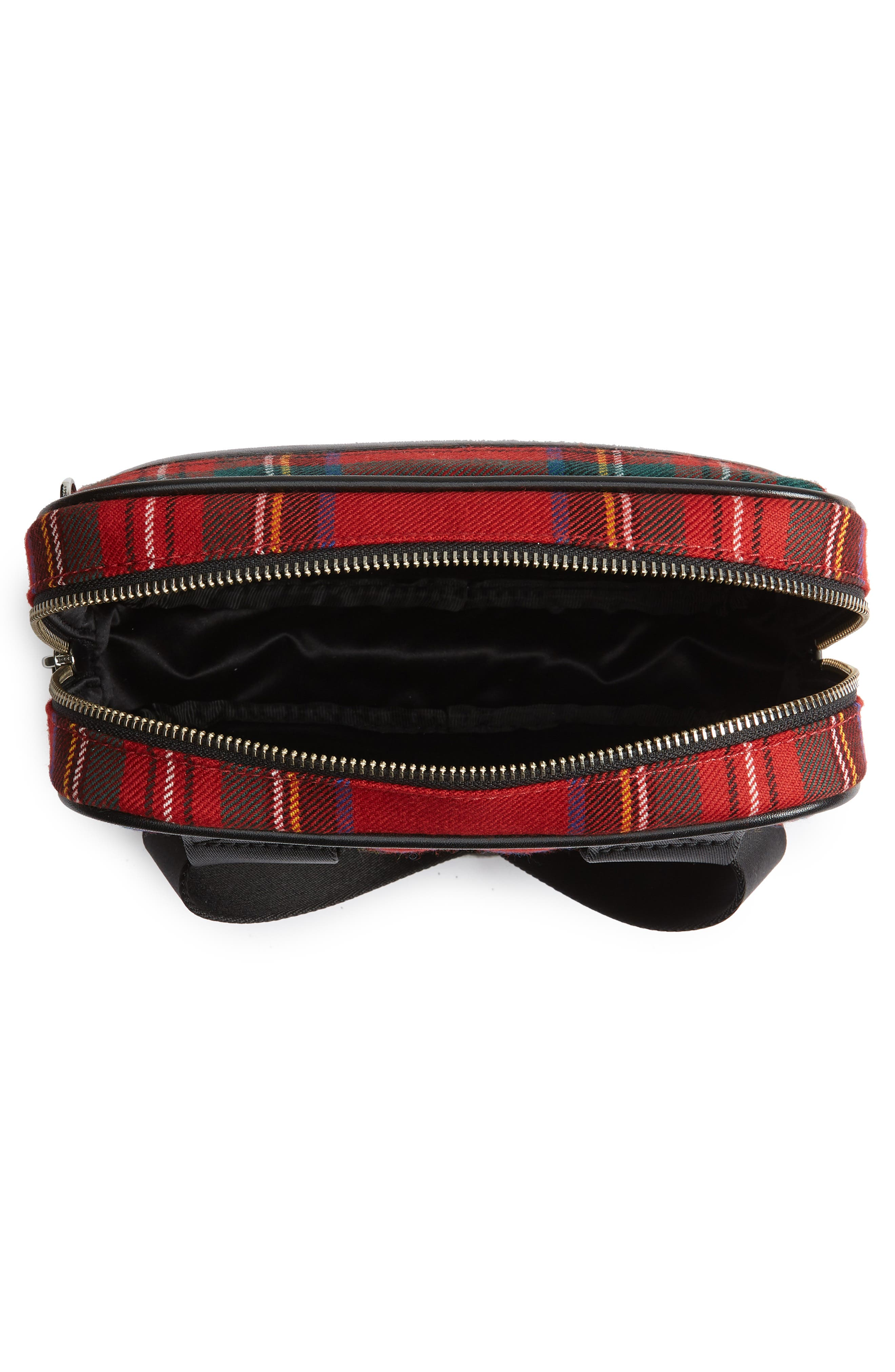 Sport Plaid Belt Bag,                             Alternate thumbnail 4, color,                             Red Multi