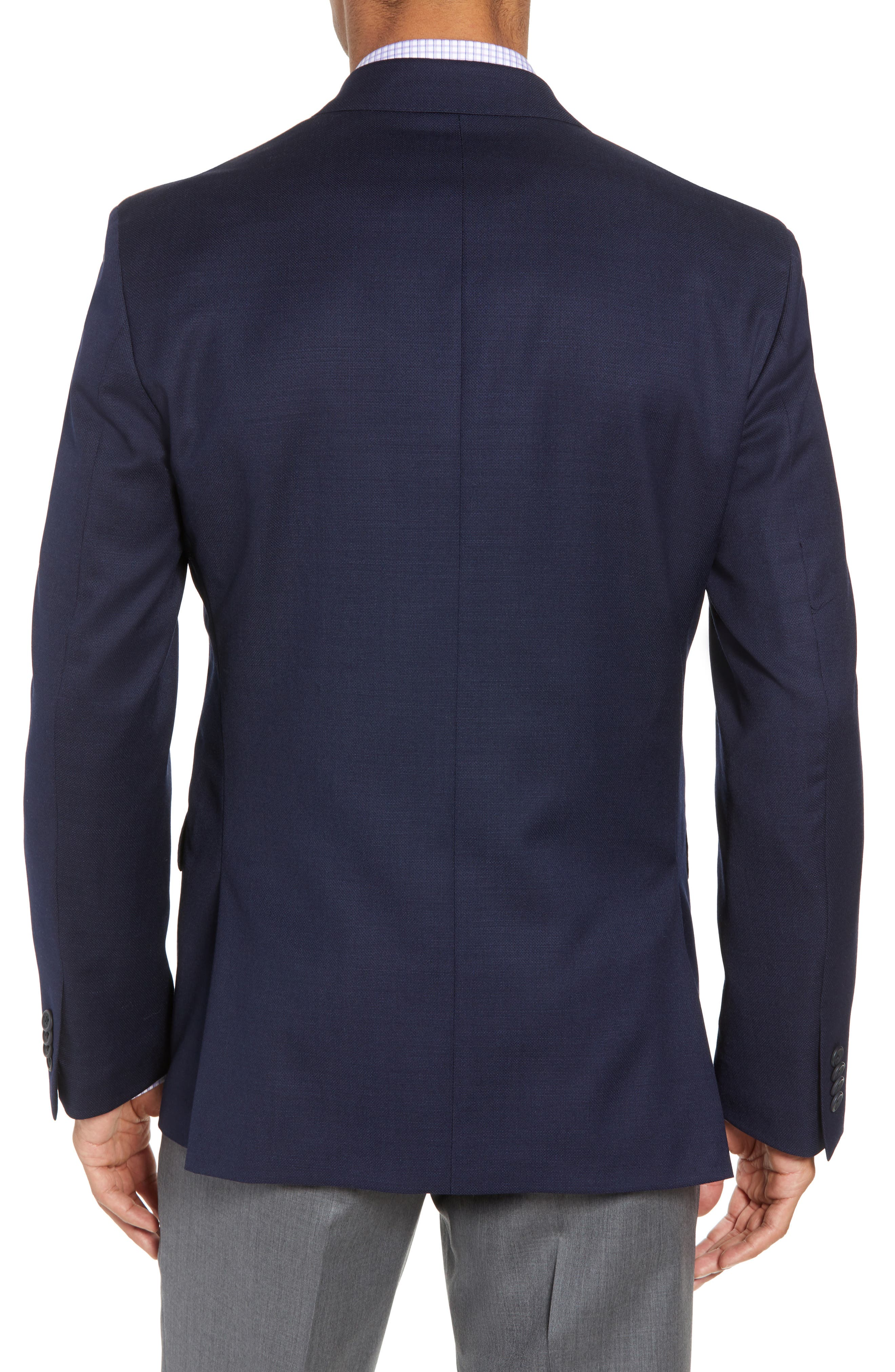 Traditional Fit Wool Blazer,                             Alternate thumbnail 2, color,                             Navy