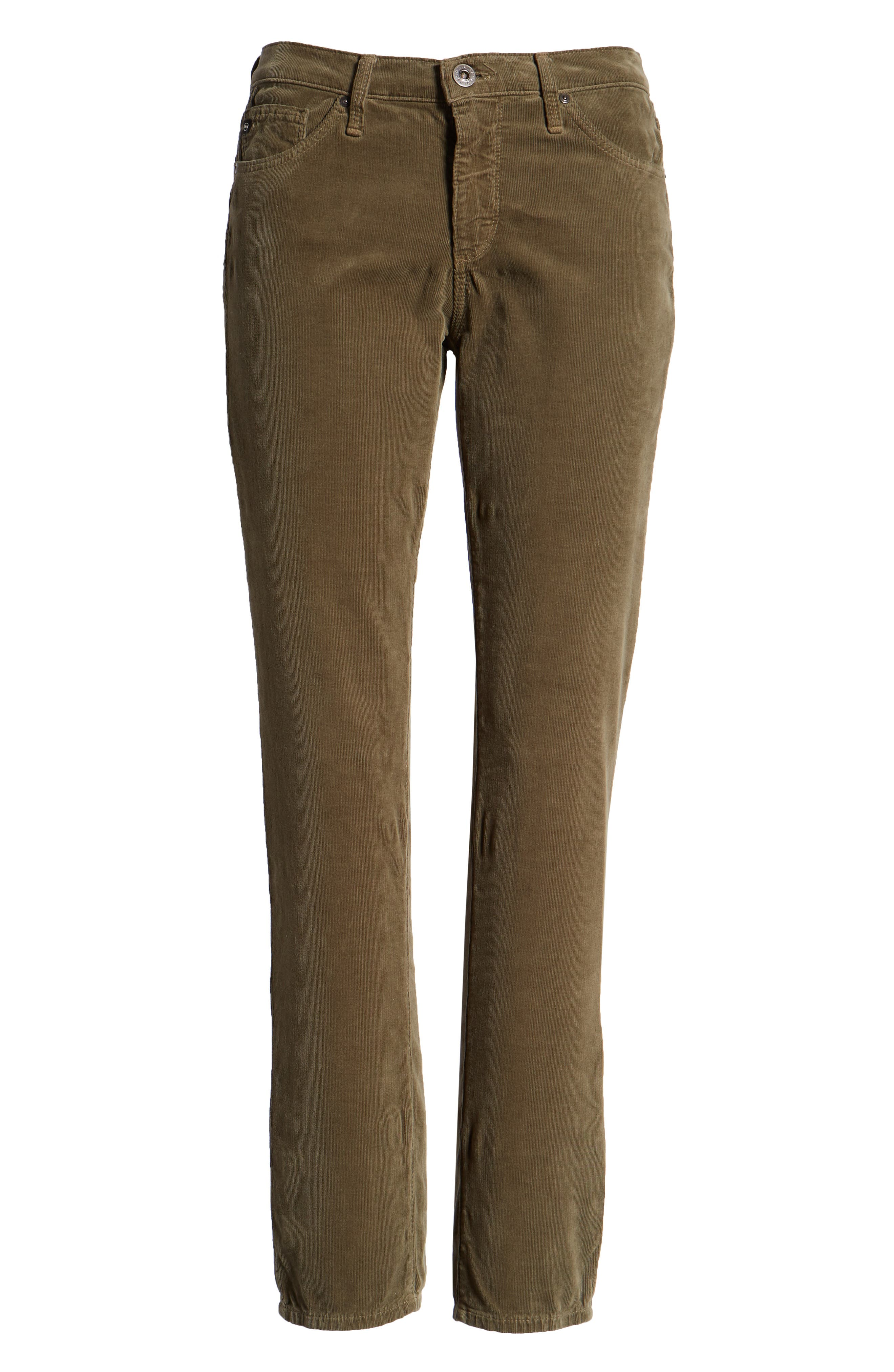 'Prima' Corduroy Skinny Pants,                             Alternate thumbnail 7, color,                             Dried Agave