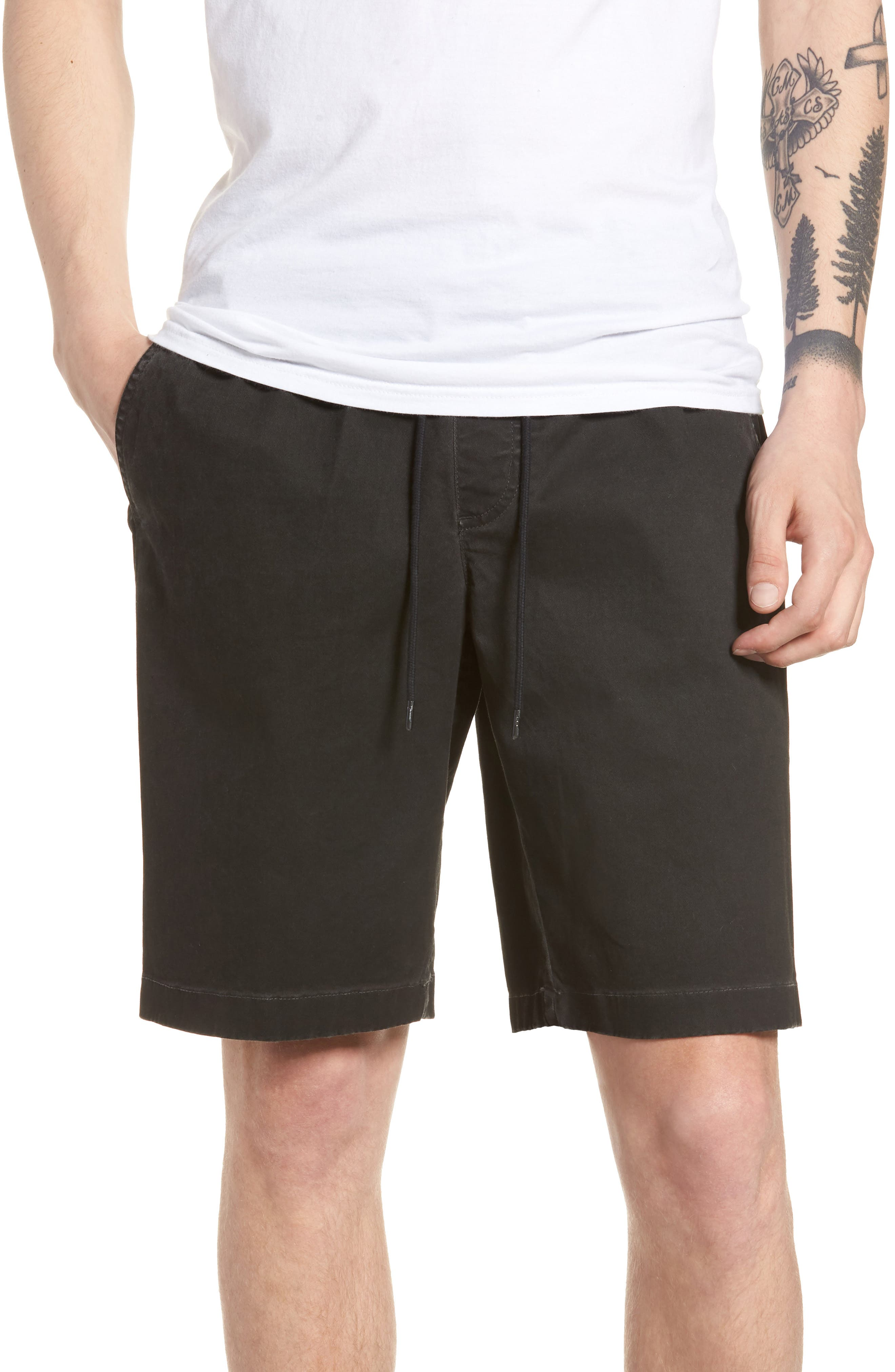 Pigment Dye Volley Shorts,                         Main,                         color, Grey Onyx