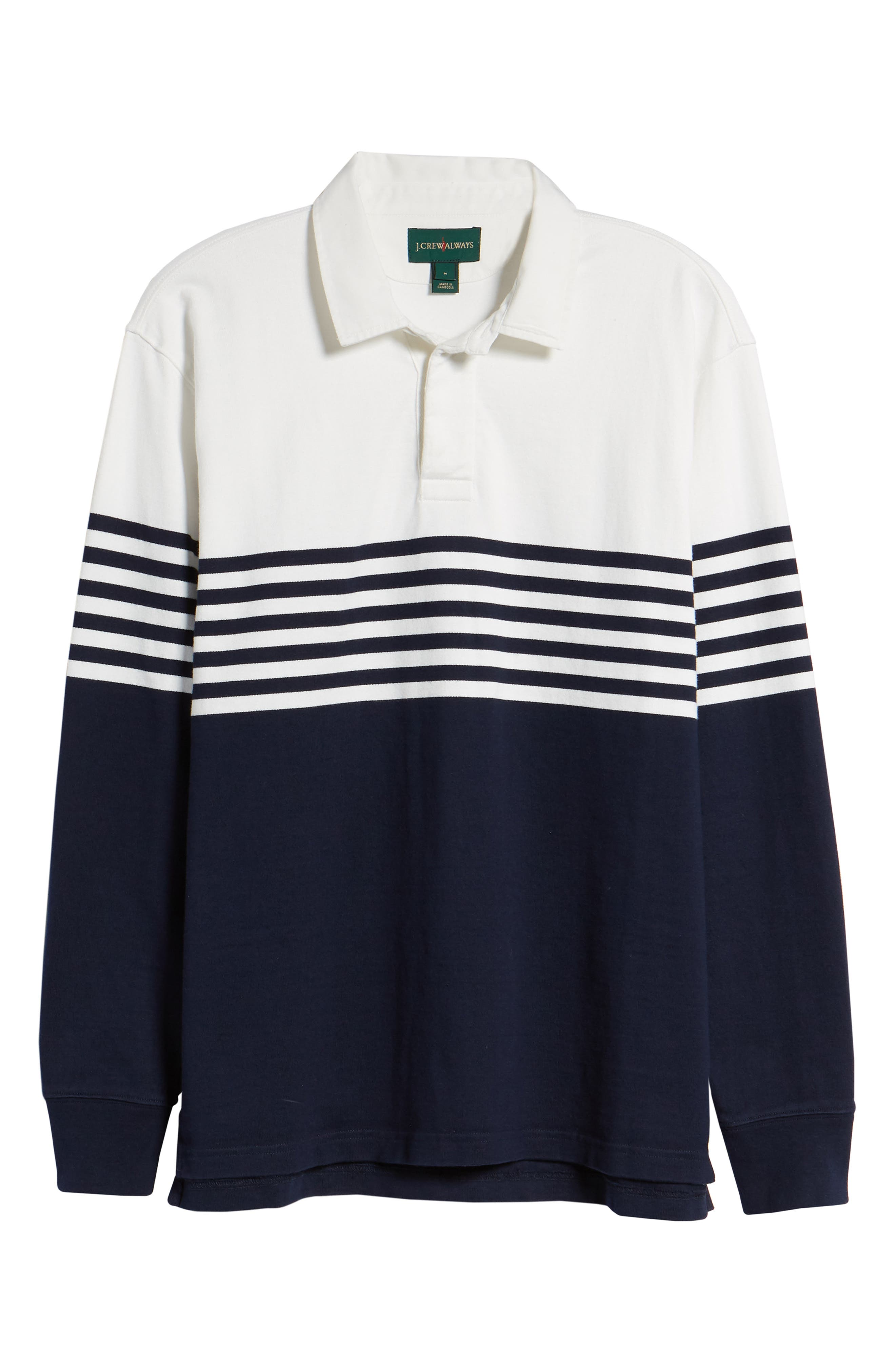 1984 Colorblock Stripe Rugby Shirt,                             Alternate thumbnail 6, color,                             Navy White
