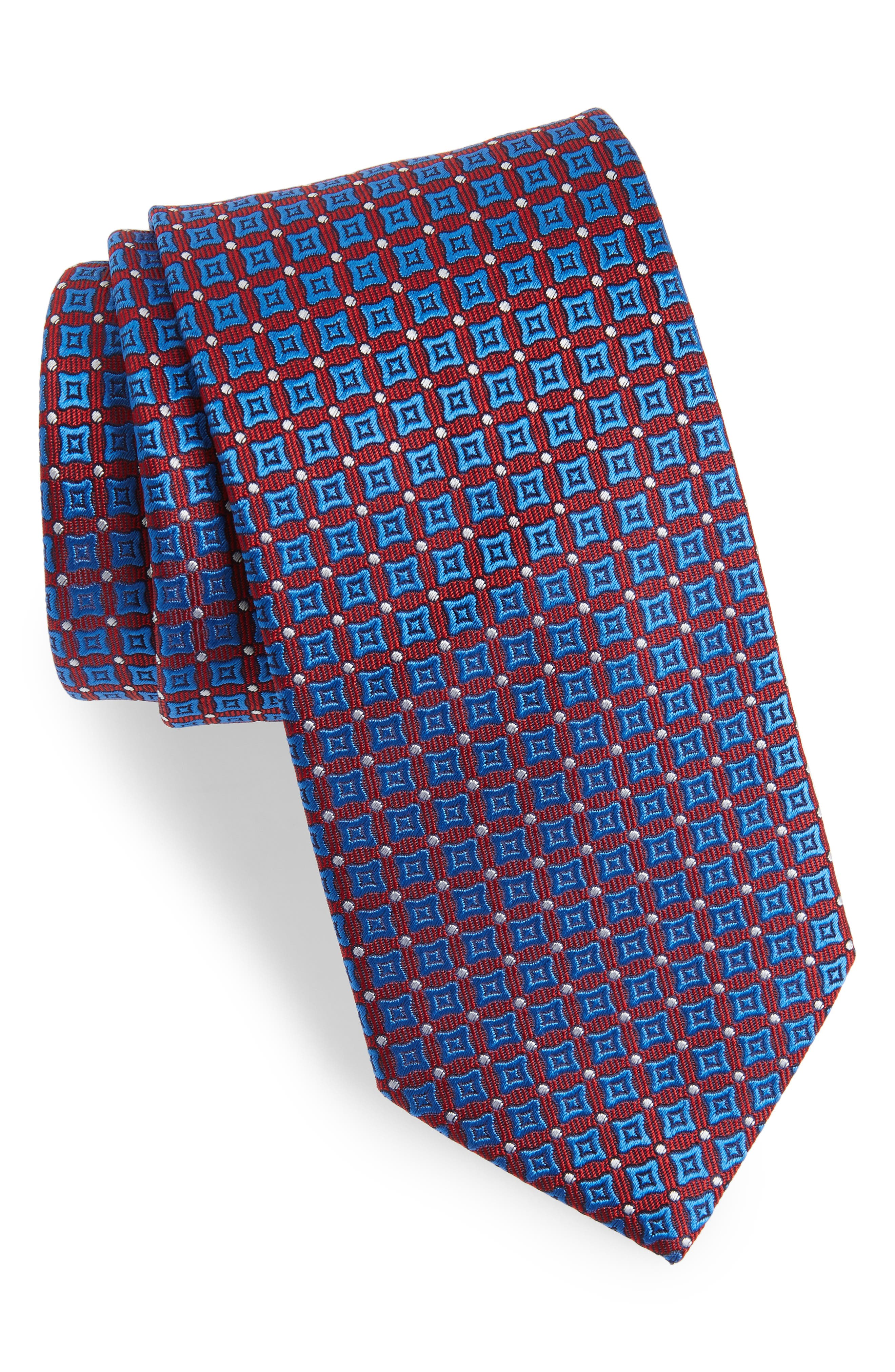 Neat Silk Tie,                         Main,                         color, Red