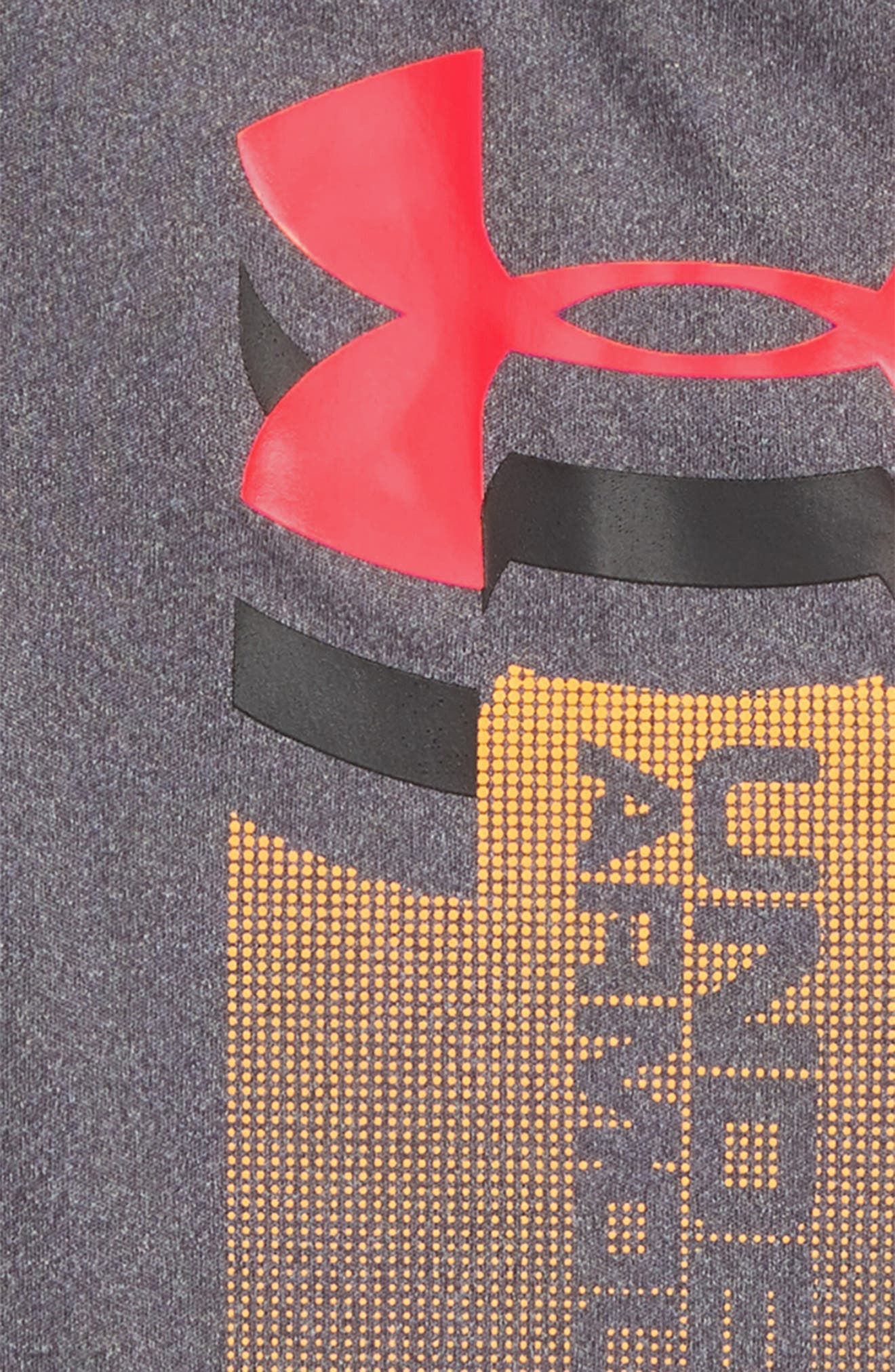 Rising Logo HeatGear<sup>®</sup> Romper,                             Alternate thumbnail 2, color,                             Carbon Heather