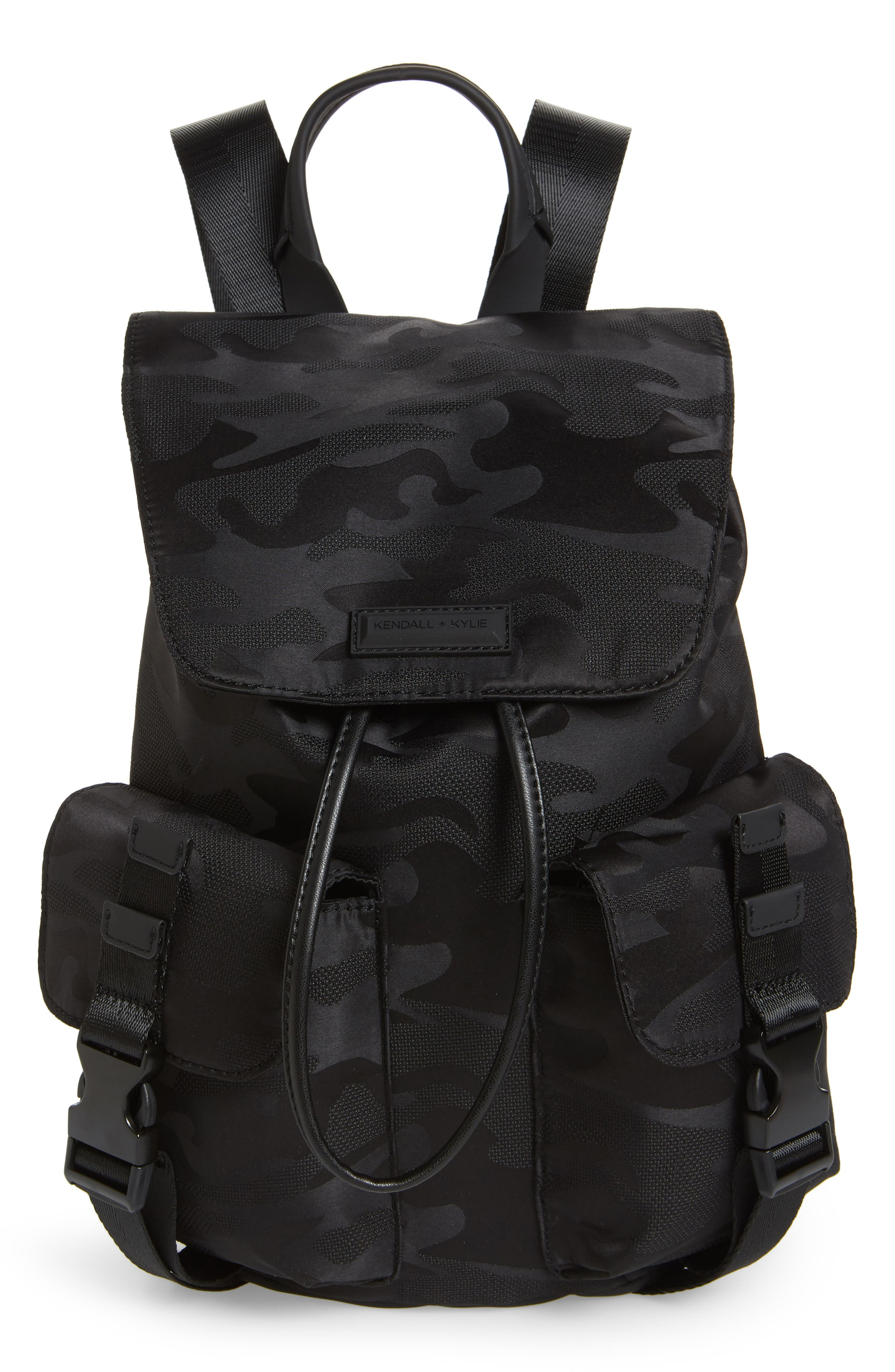 Parker Water Resistant Backpack,                             Main thumbnail 1, color,                             Black Camo