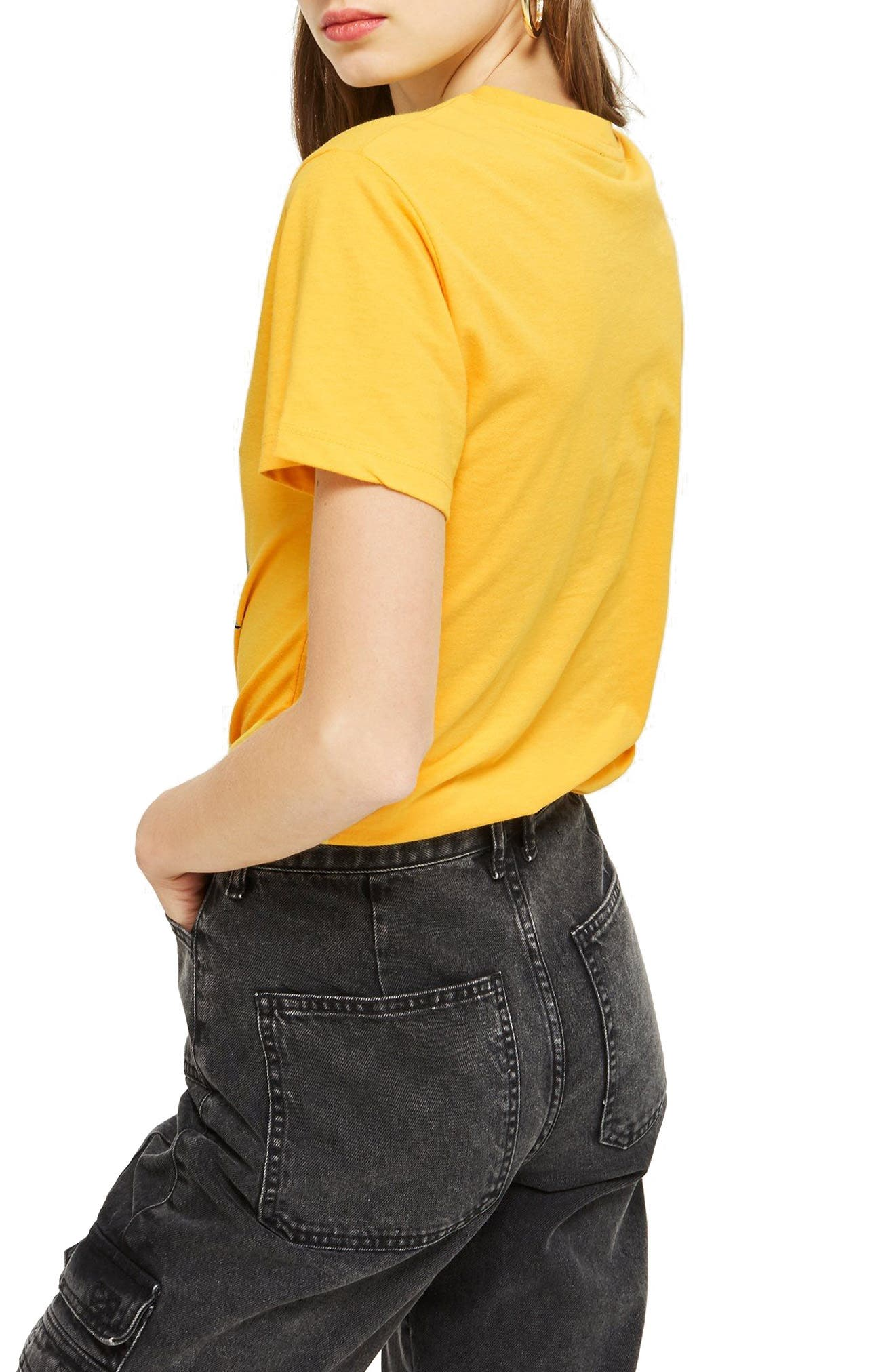 Cayman Island Print T-Shirt,                             Alternate thumbnail 3, color,                             Yellow Multi