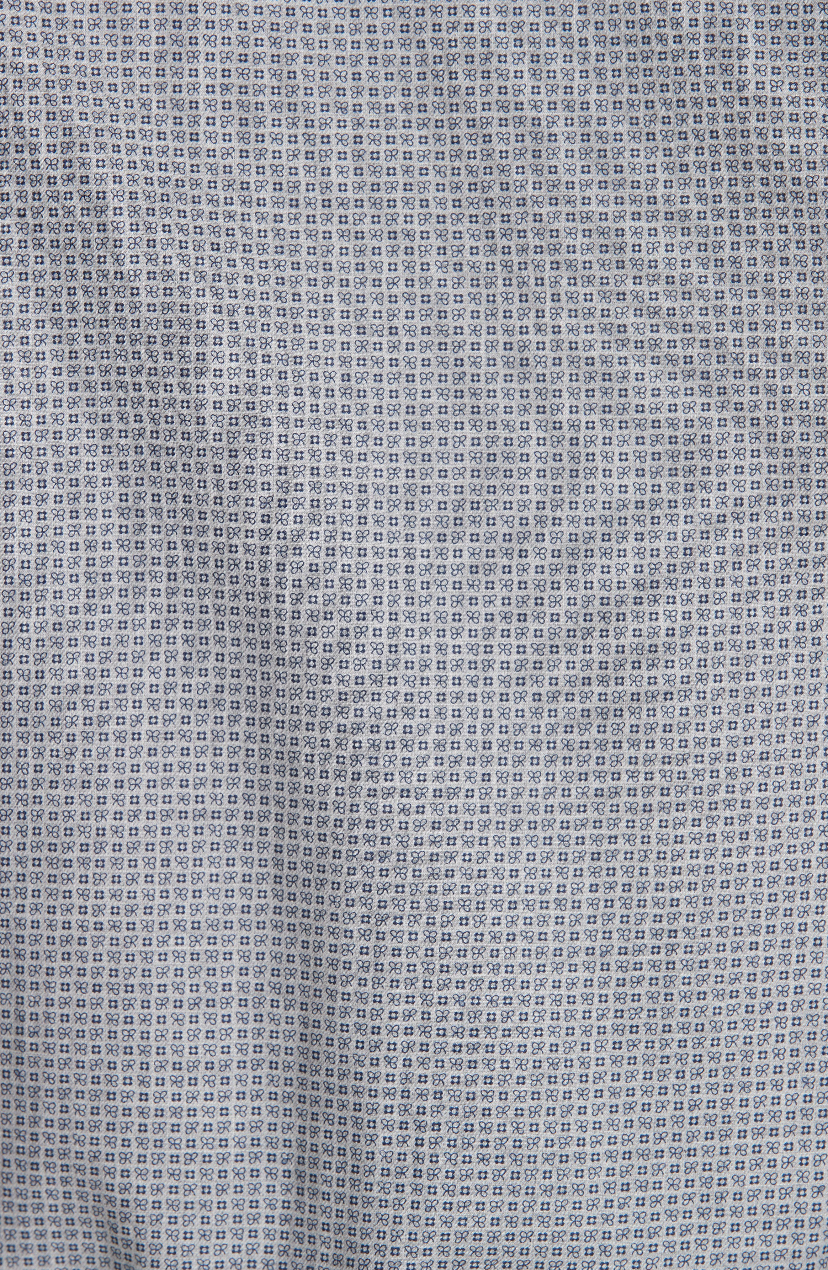Classic Fit Geometric Dress Shirt,                             Alternate thumbnail 4, color,                             Grey