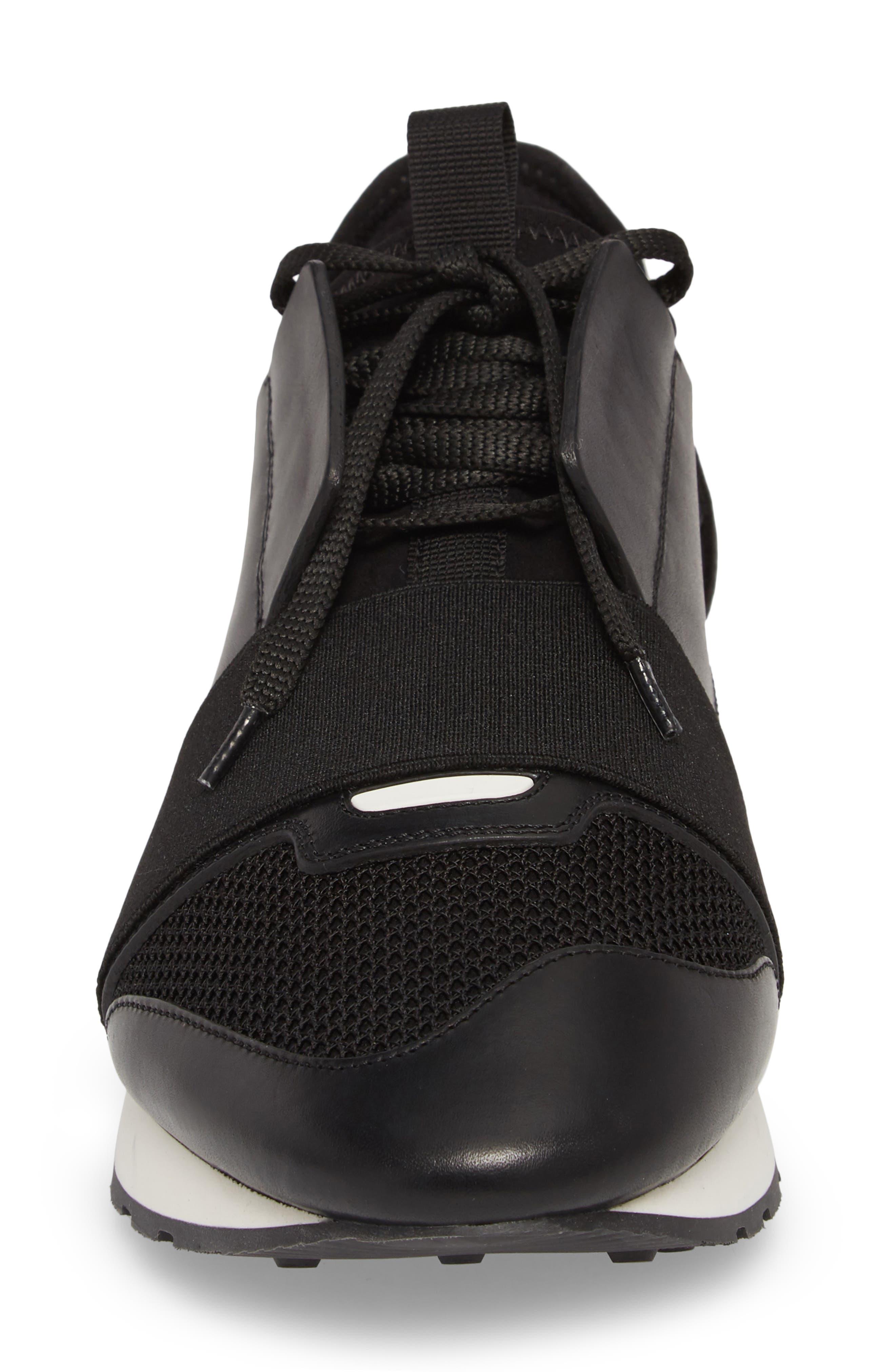 Race Runner Sneaker,                             Alternate thumbnail 6, color,                             Noir/ Black