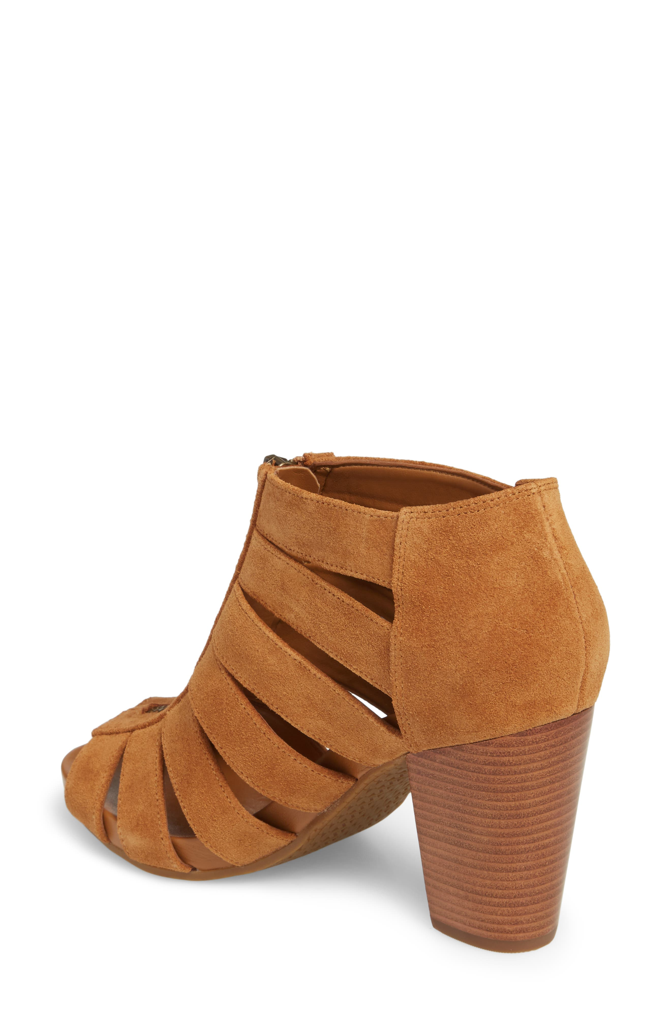 Sherry Cage Bootie,                             Alternate thumbnail 2, color,                             Acorn Suede