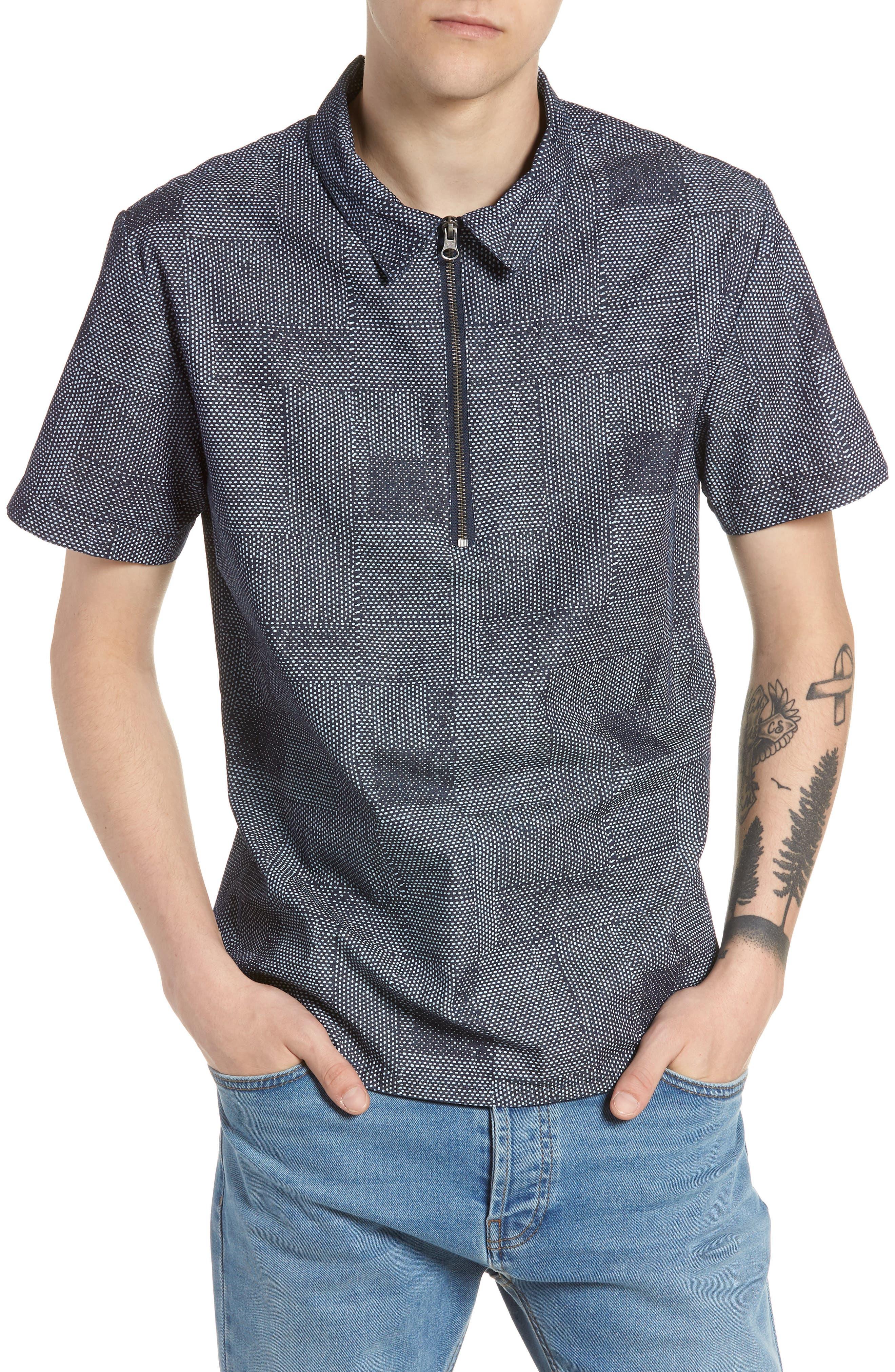 Dotpatch Woven Shirt,                             Main thumbnail 1, color,                             Indigo