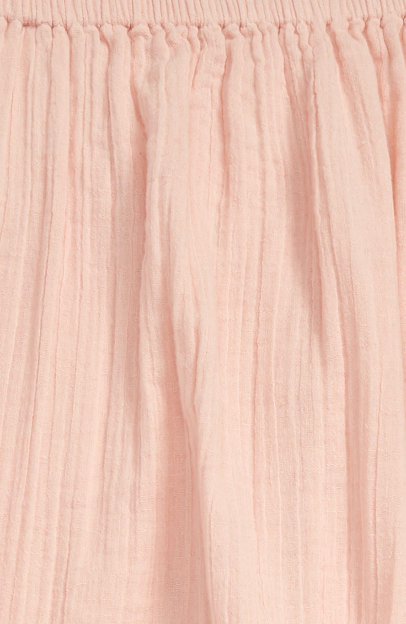Crepe Romper,                             Alternate thumbnail 2, color,                             Pink Smoke