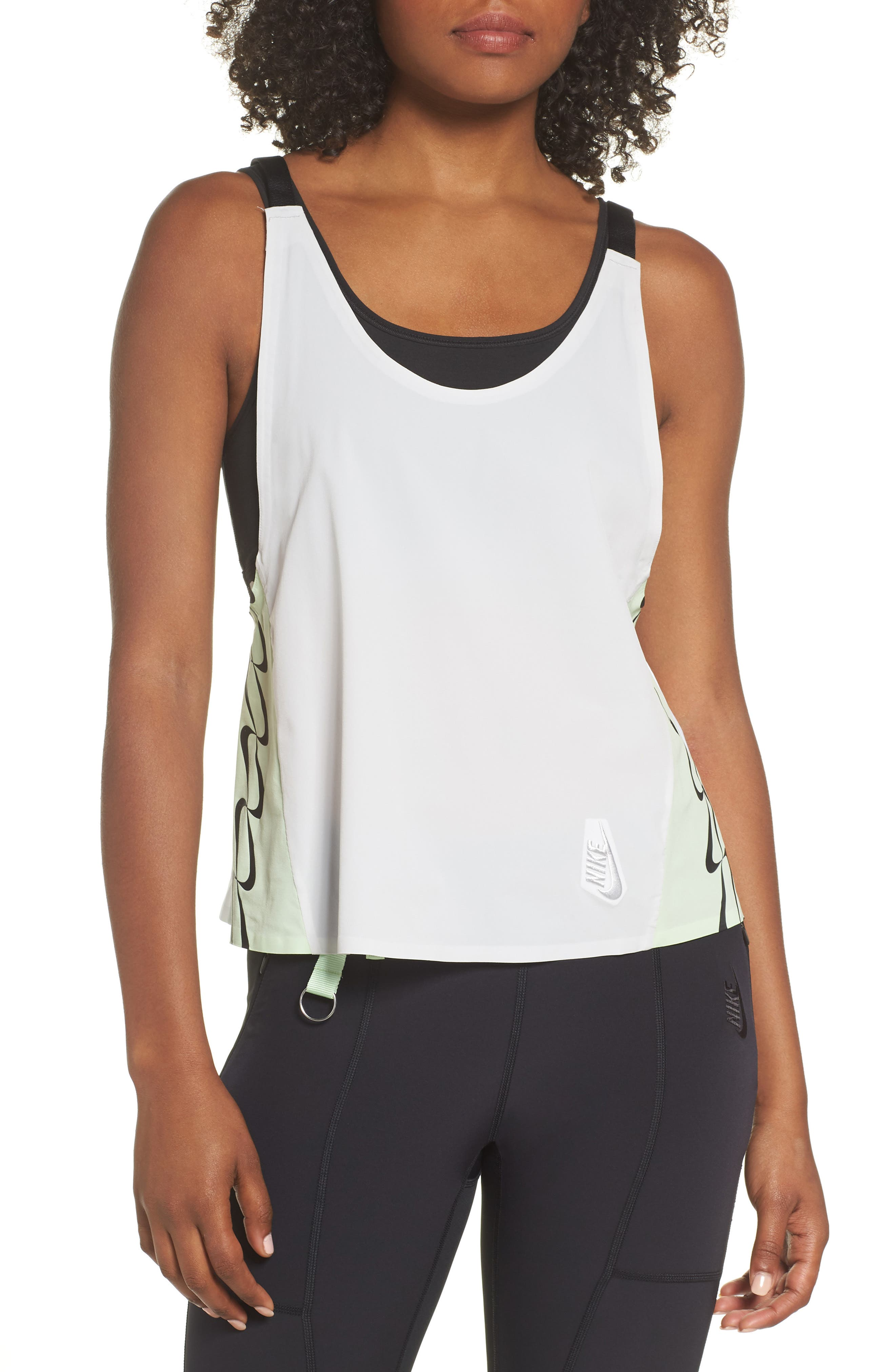 NRG Women's Colorblock Tank,                             Main thumbnail 1, color,                             Vast Grey/ White/ Vapor Green