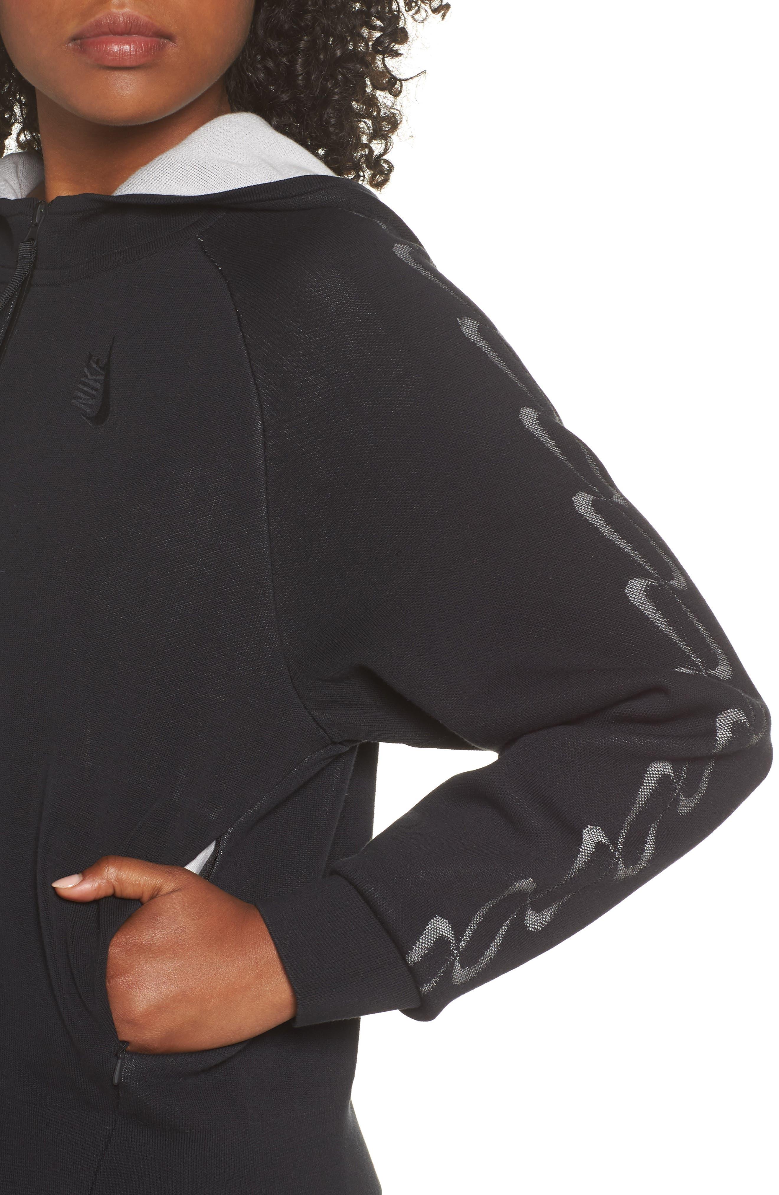 NRG Women's Knit Jacket,                             Alternate thumbnail 4, color,                             Black/ Vast Grey
