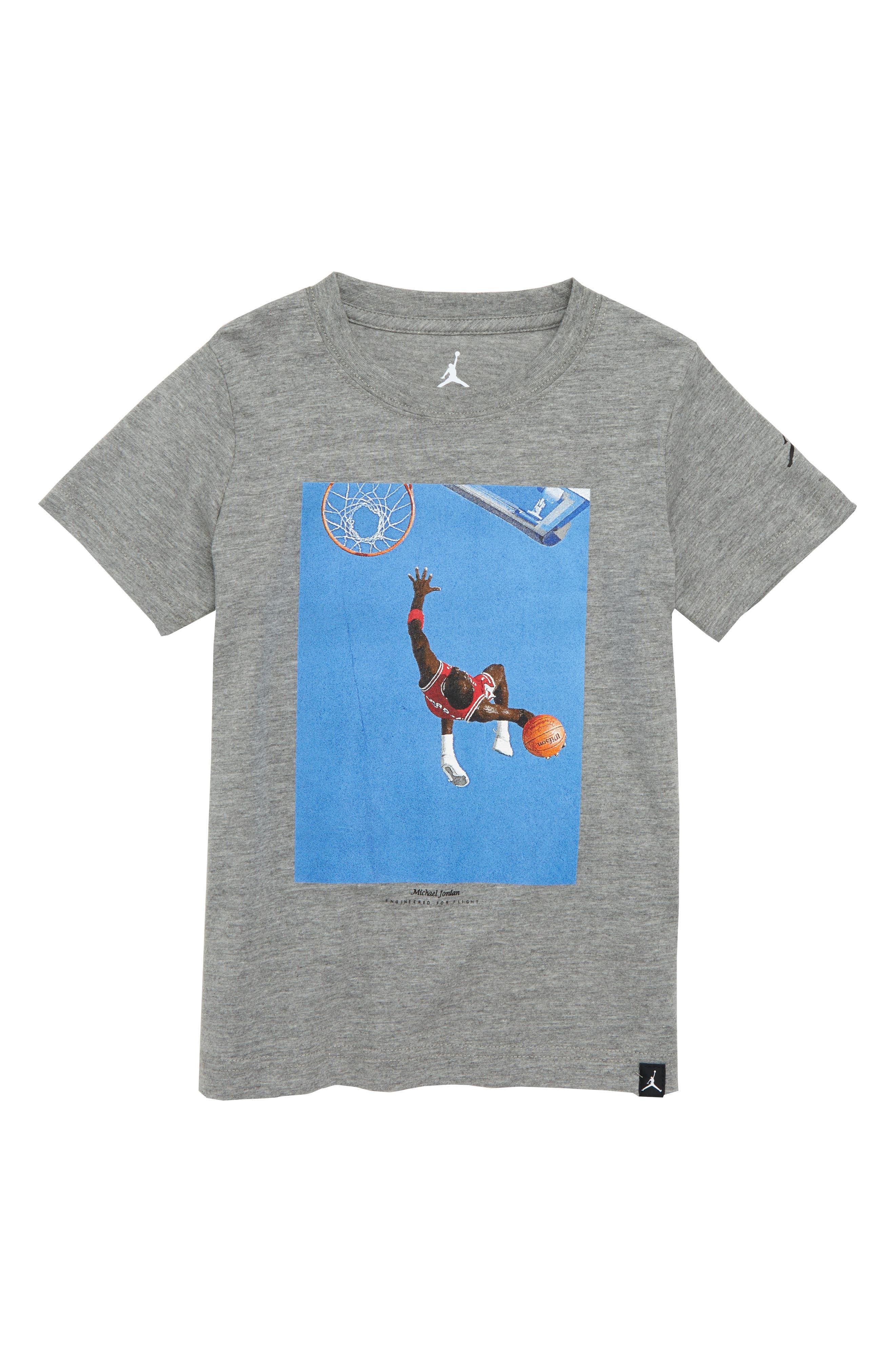 Nike Jordan MJ Dunk Photo T-Shirt,                             Main thumbnail 1, color,                             Carbon Heather