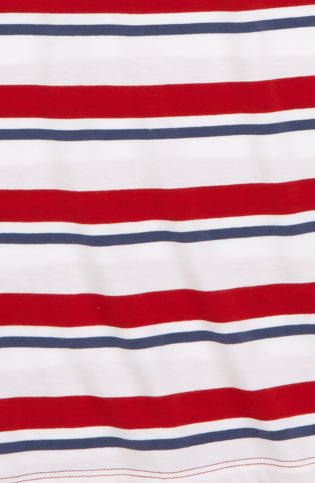 Repp Stripe T-Shirt,                             Alternate thumbnail 2, color,                             Red Samba- White Stripe