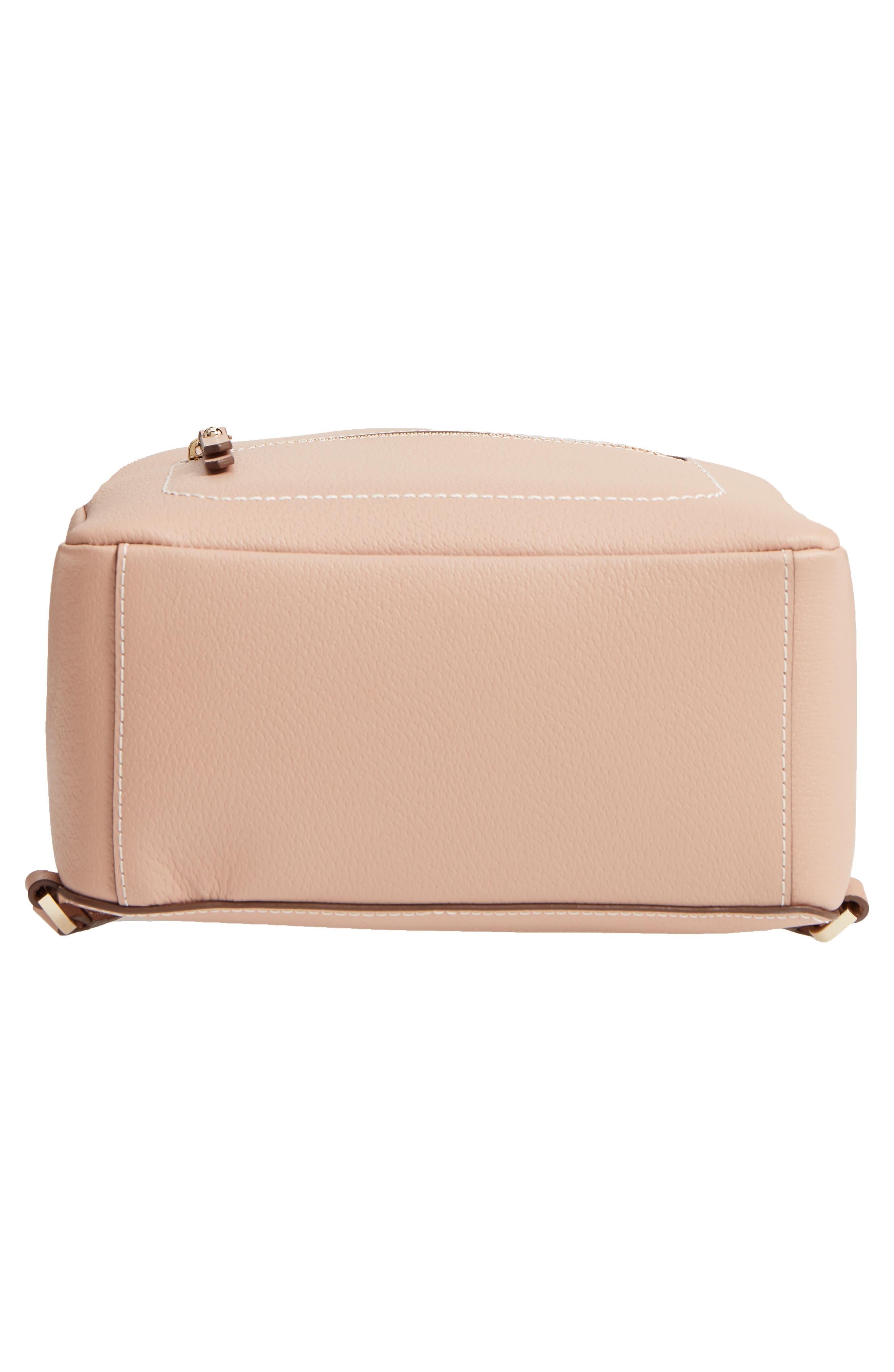 thompson street - brooke leather backpack,                             Alternate thumbnail 4, color,                             Ginger Tea