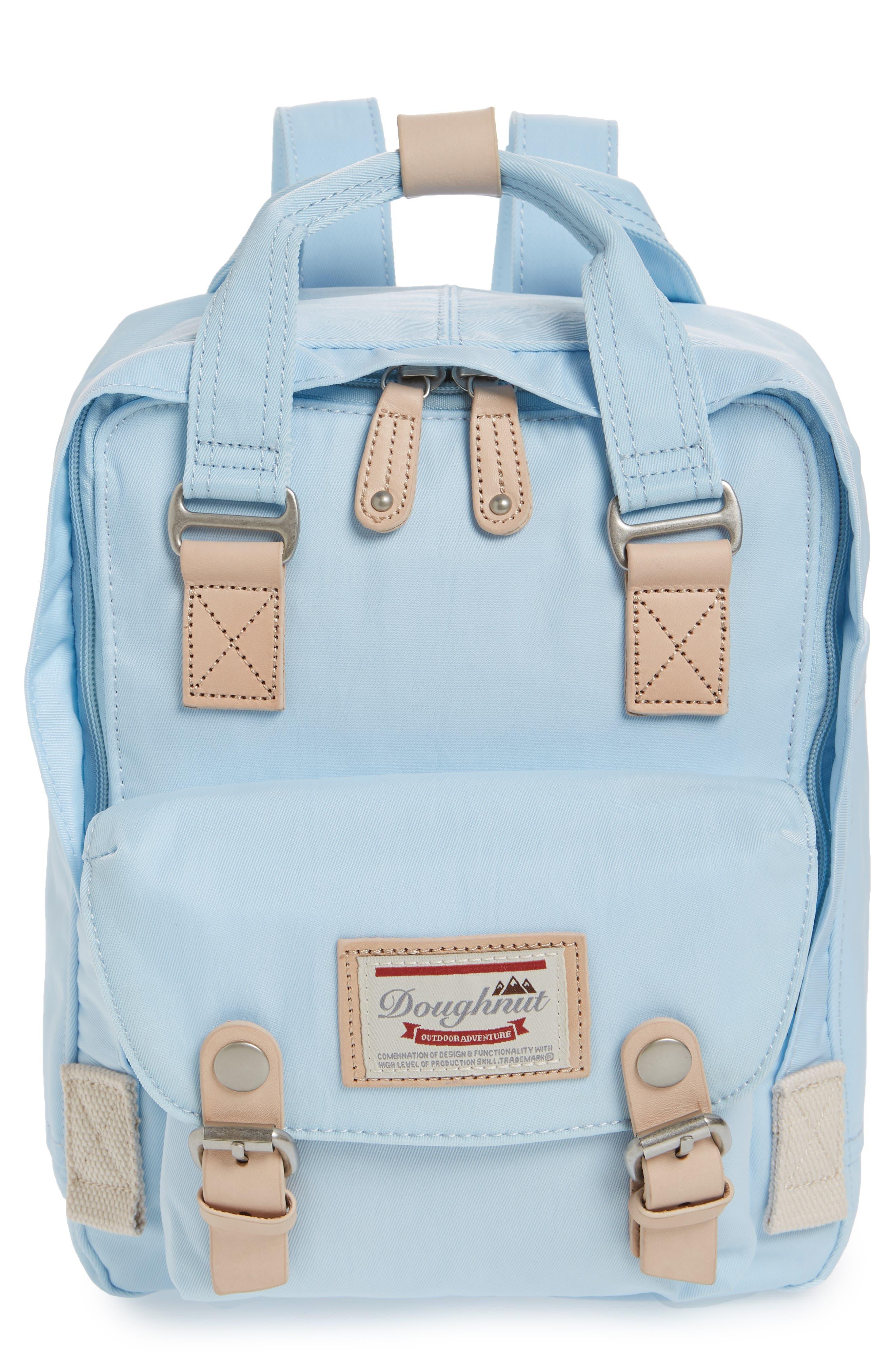 Mini Macaroon Water Resistant Backpack,                             Main thumbnail 1, color,                             Iceberg