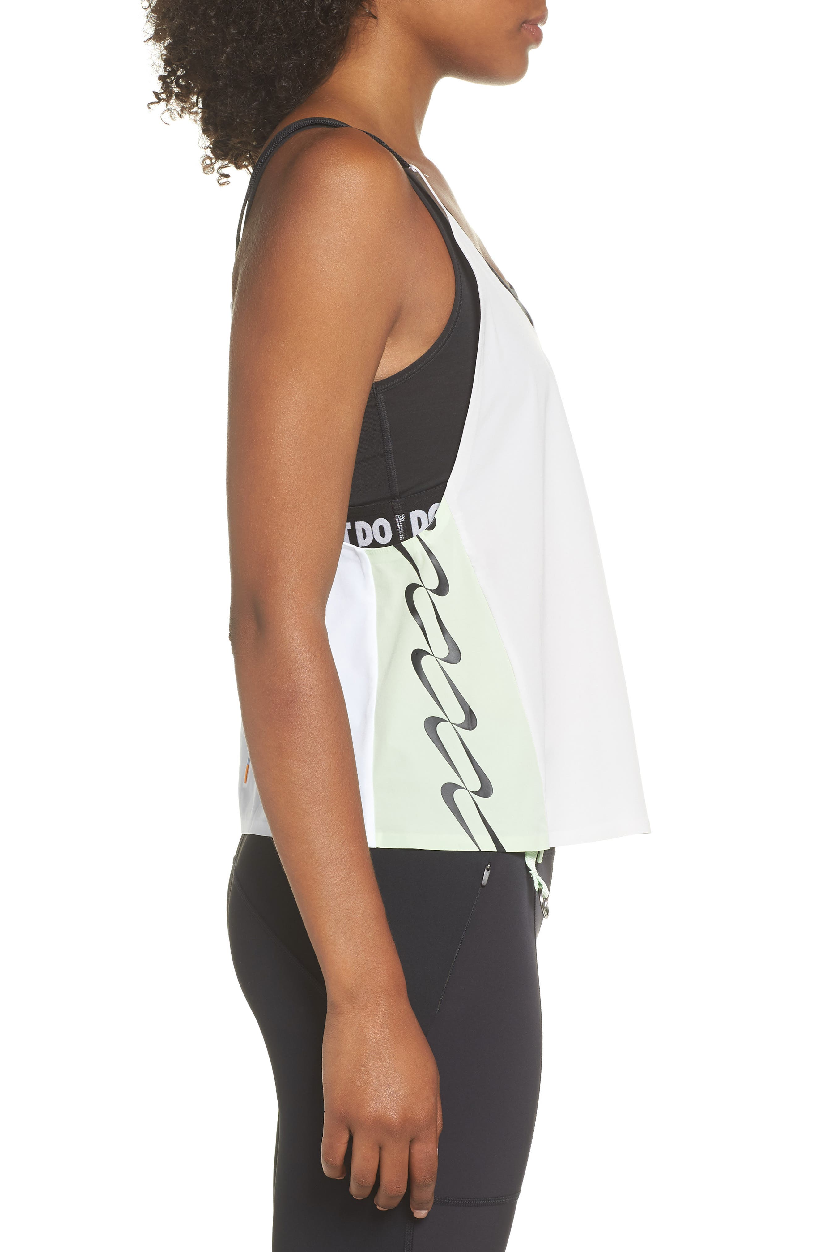 NRG Women's Colorblock Tank,                             Alternate thumbnail 3, color,                             Vast Grey/ White/ Vapor Green