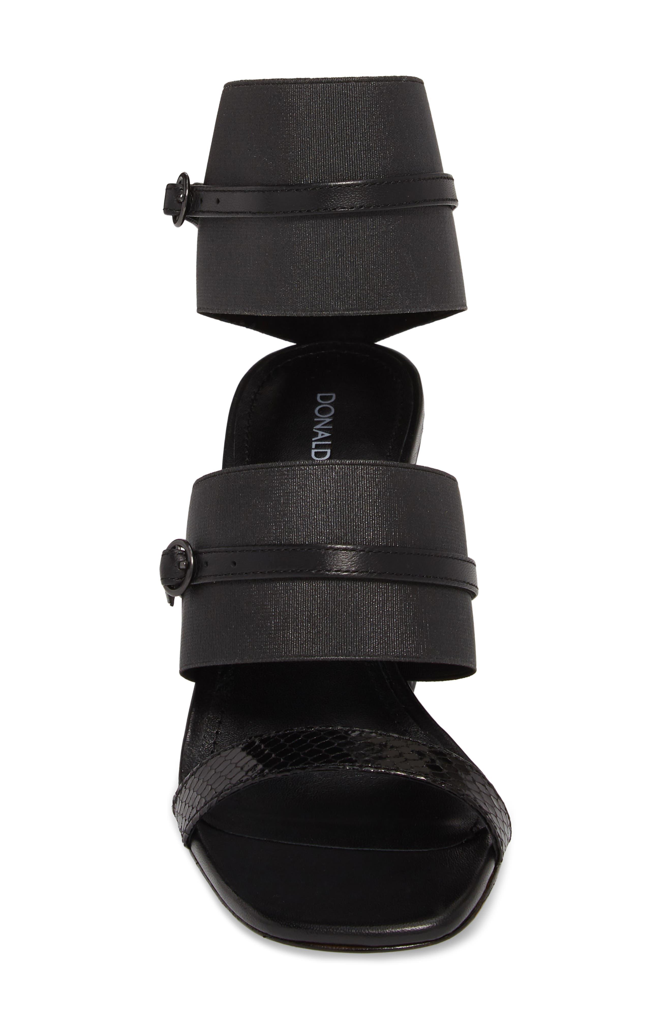 Edie Sandal,                             Alternate thumbnail 5, color,                             Black Leather