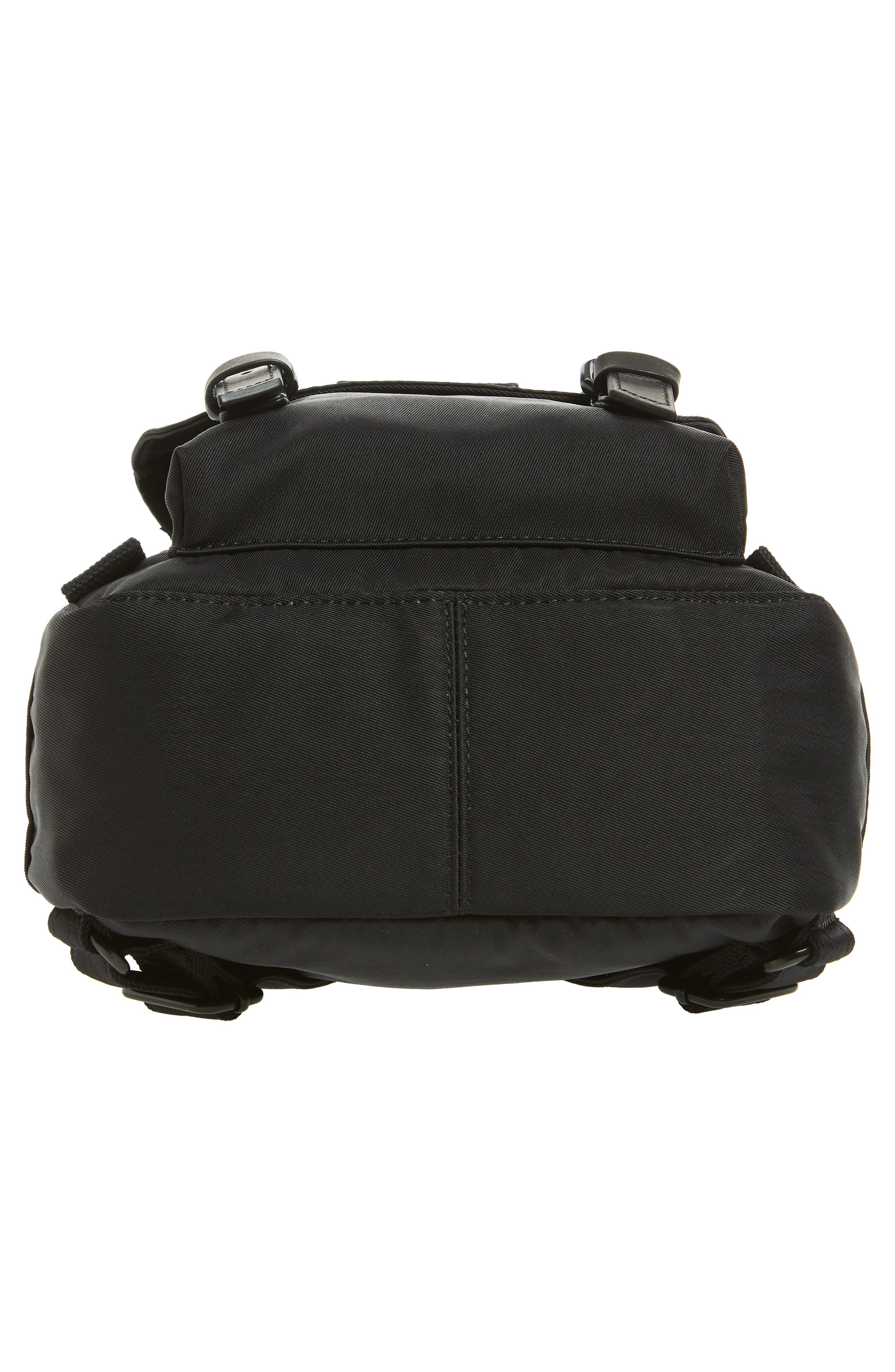 Mini Macaroon Black Series Water Resistant Backpack,                             Alternate thumbnail 4, color,                             Black