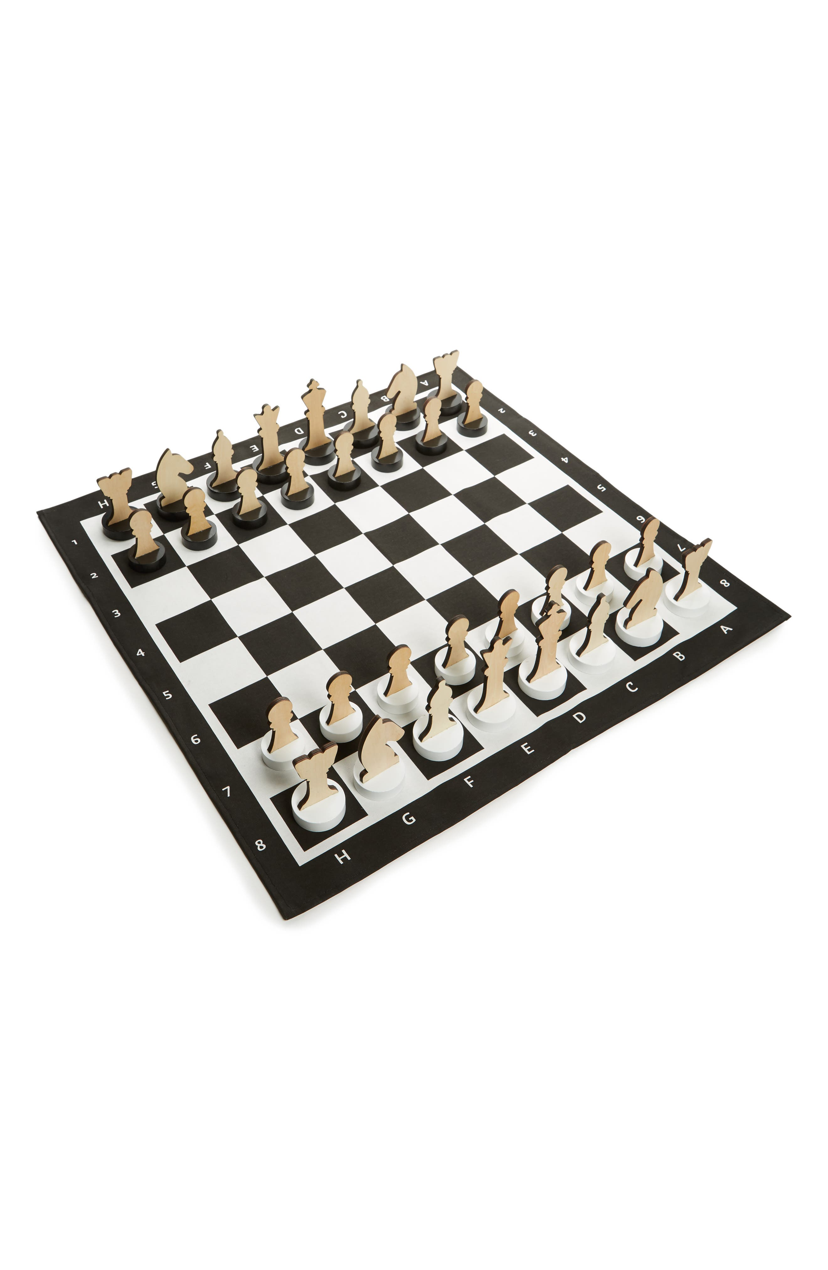 XL Indoor/Outdoor Chess Game,                             Main thumbnail 1, color,                             Black