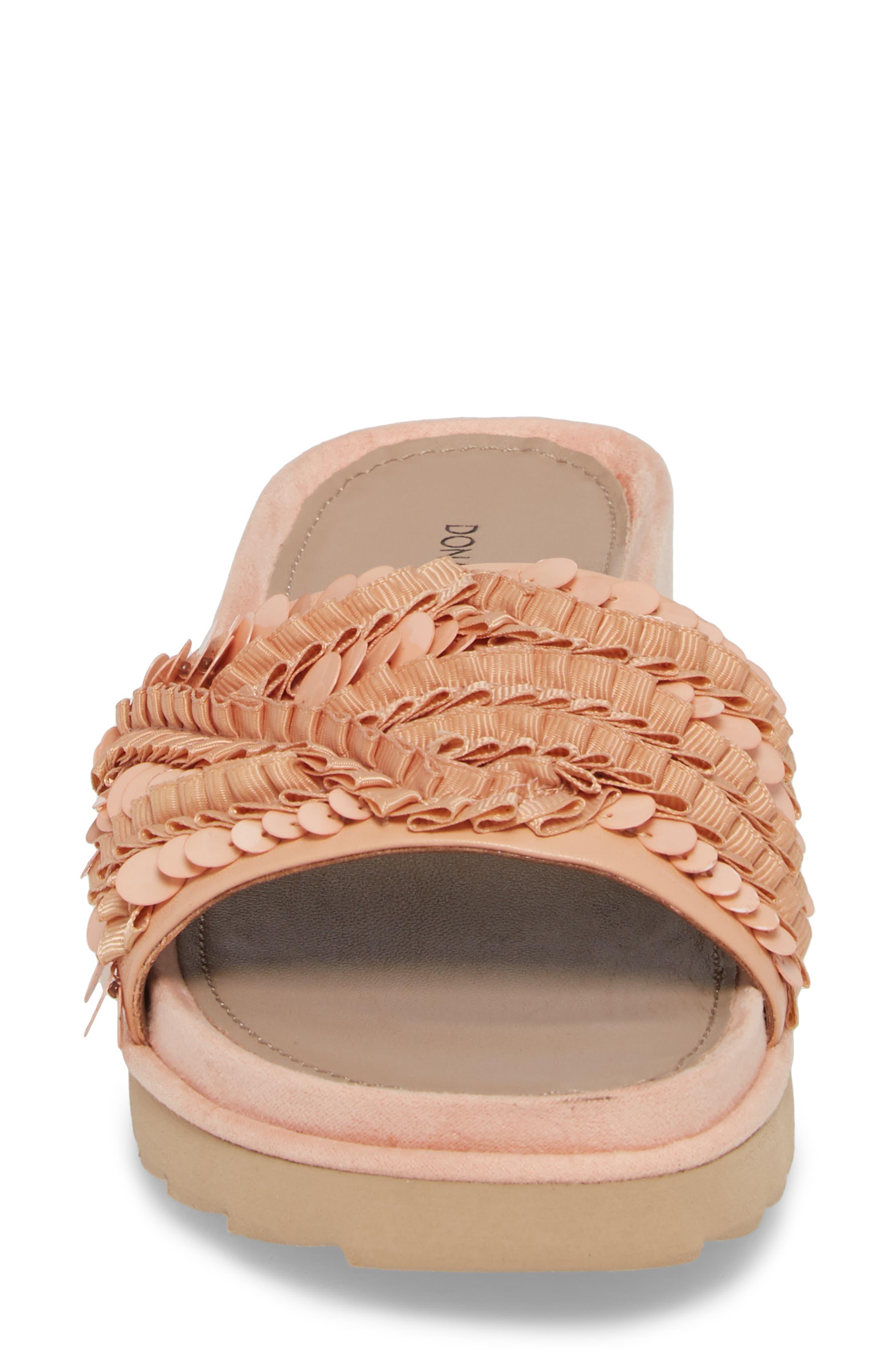 Cava Slide Sandal,                             Alternate thumbnail 6, color,                             Peony Leather