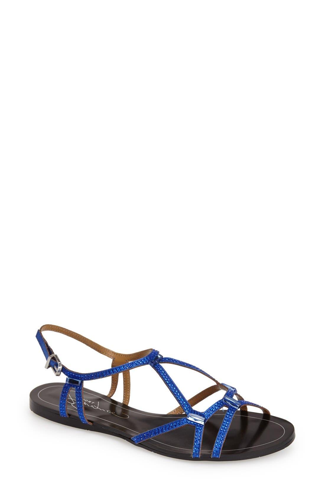 Alternate Image 1 Selected - REPORT Signature 'Sarasota' Crystal Embellished Sandal (Women)