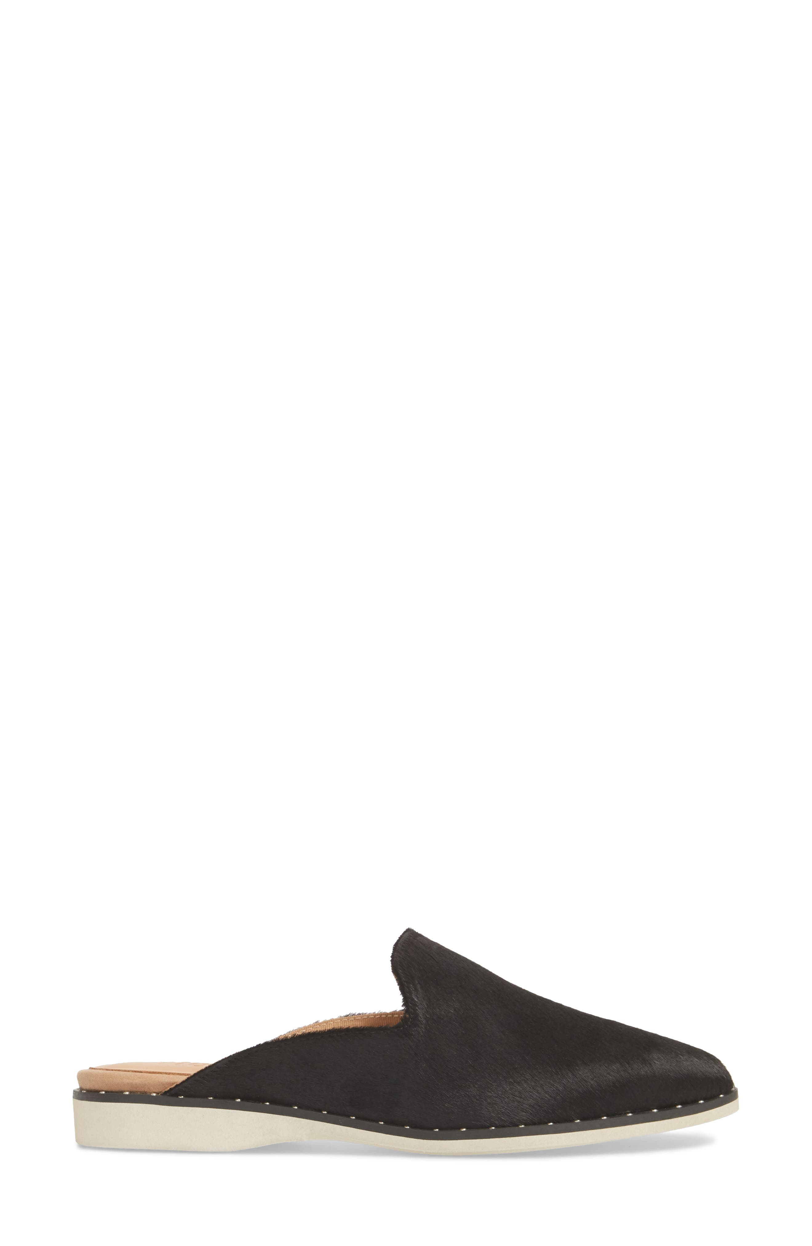 Madison Studded Genuine Calf Hair Loafer Mule,                             Alternate thumbnail 4, color,                             Black Calf Hair
