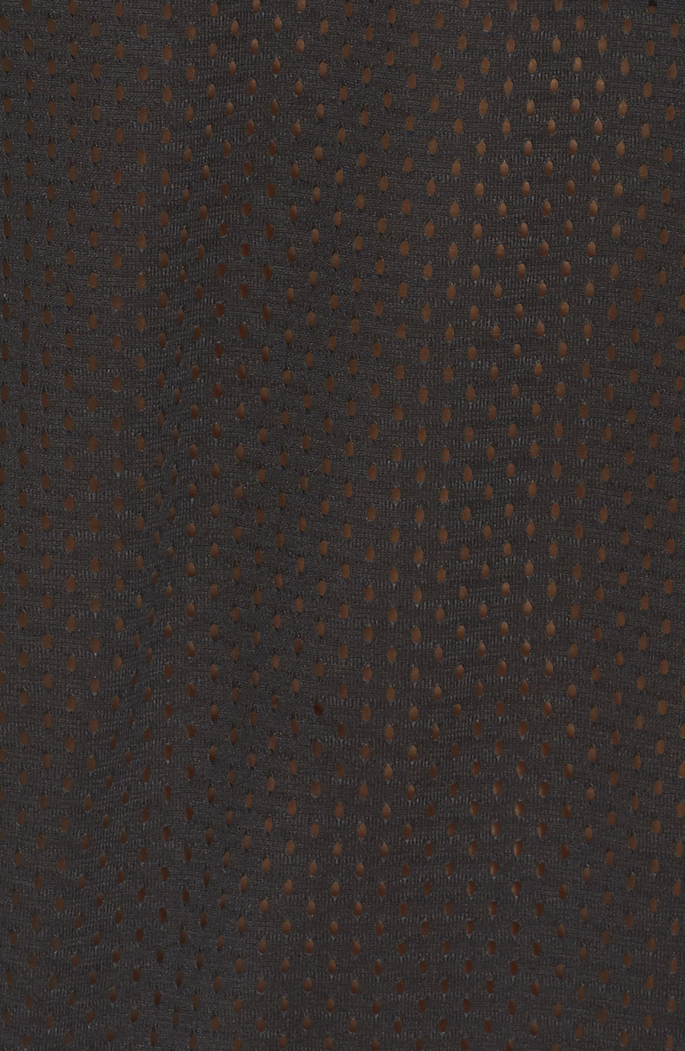 Essentials Mesh Sweatshirt,                             Alternate thumbnail 6, color,                             Black