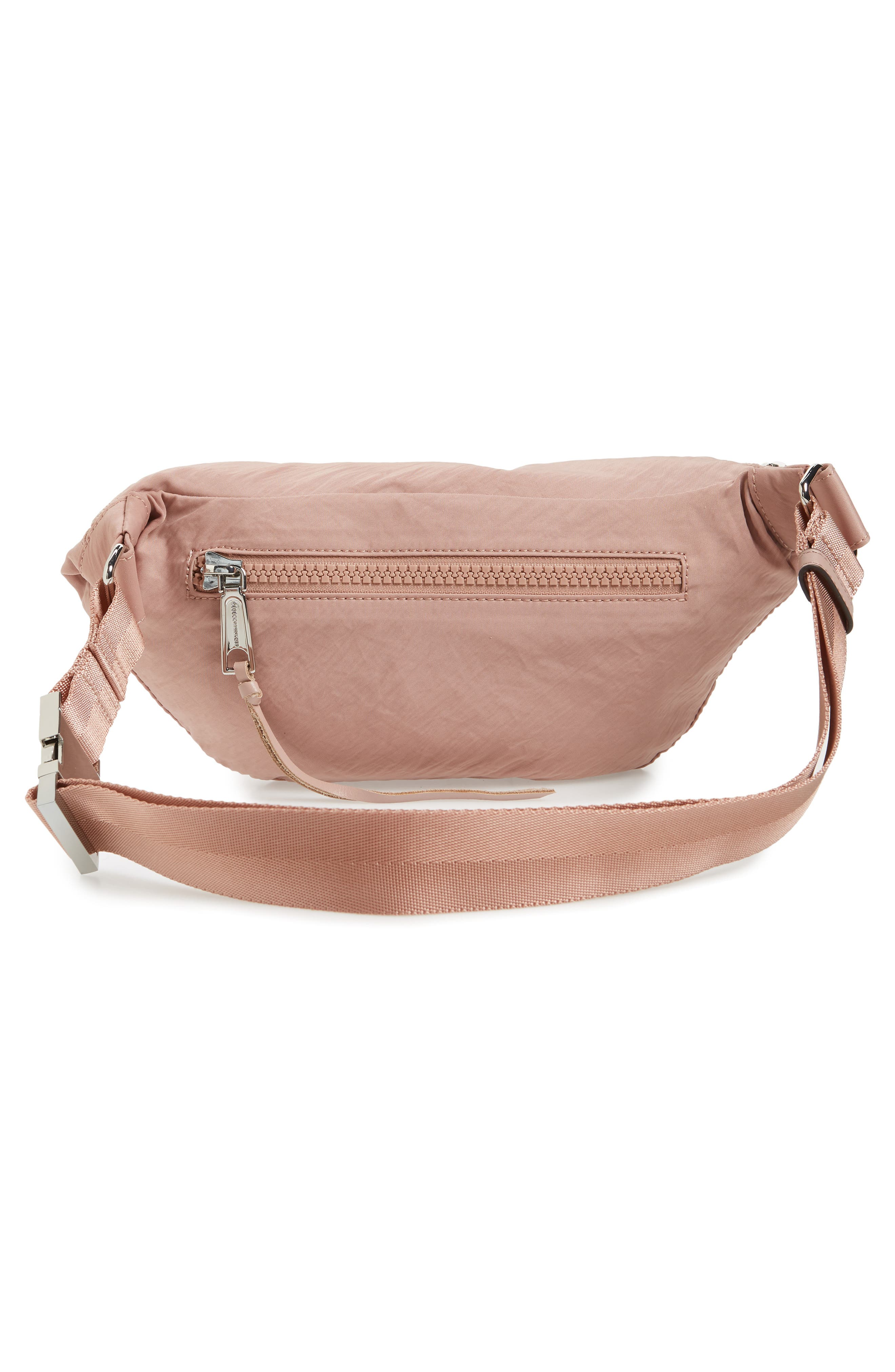Nylon Belt Bag,                             Alternate thumbnail 5, color,                             Vintage Pink