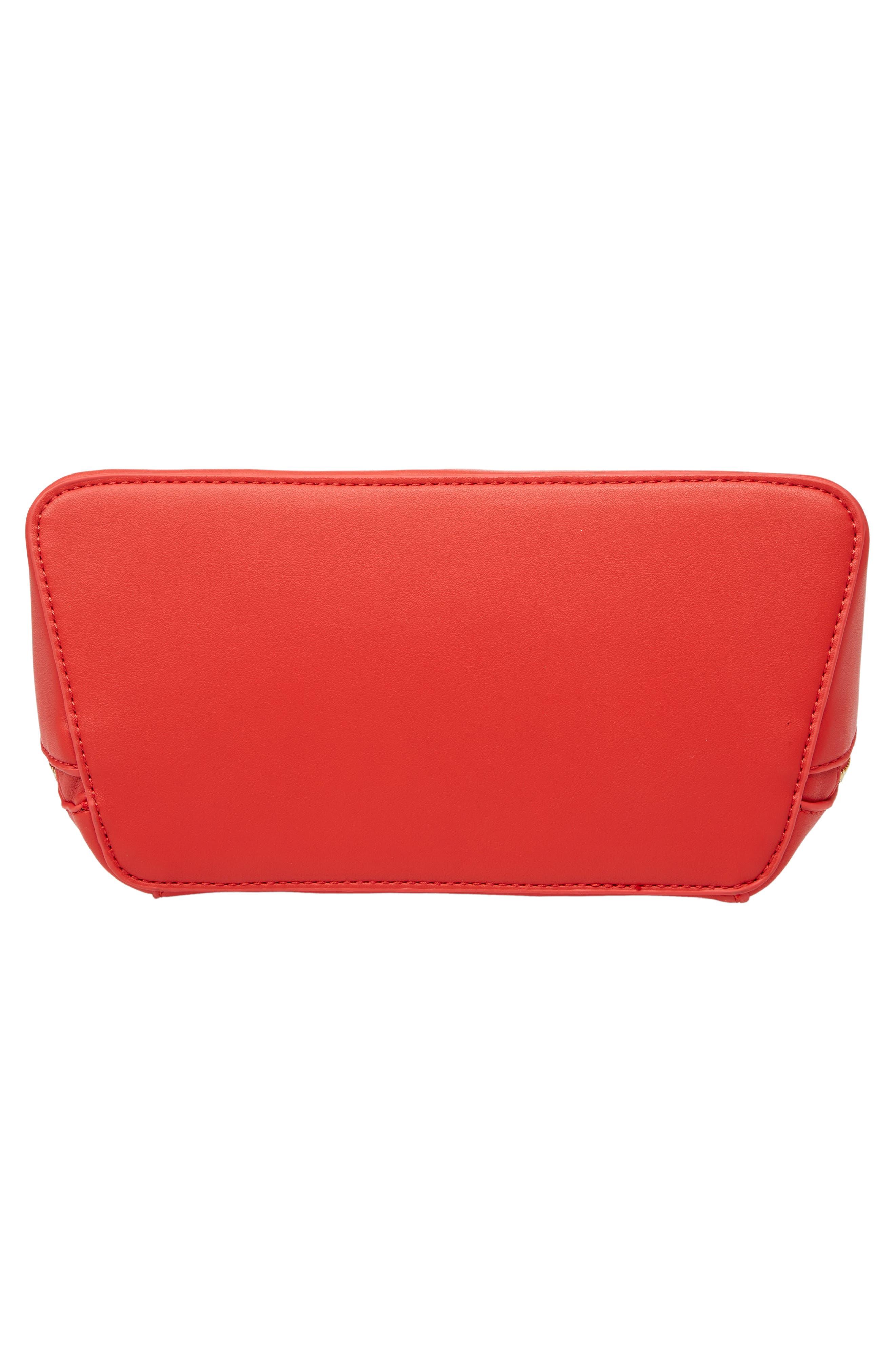 Top Handle Crossbody Bag,                             Alternate thumbnail 5, color,                             Red