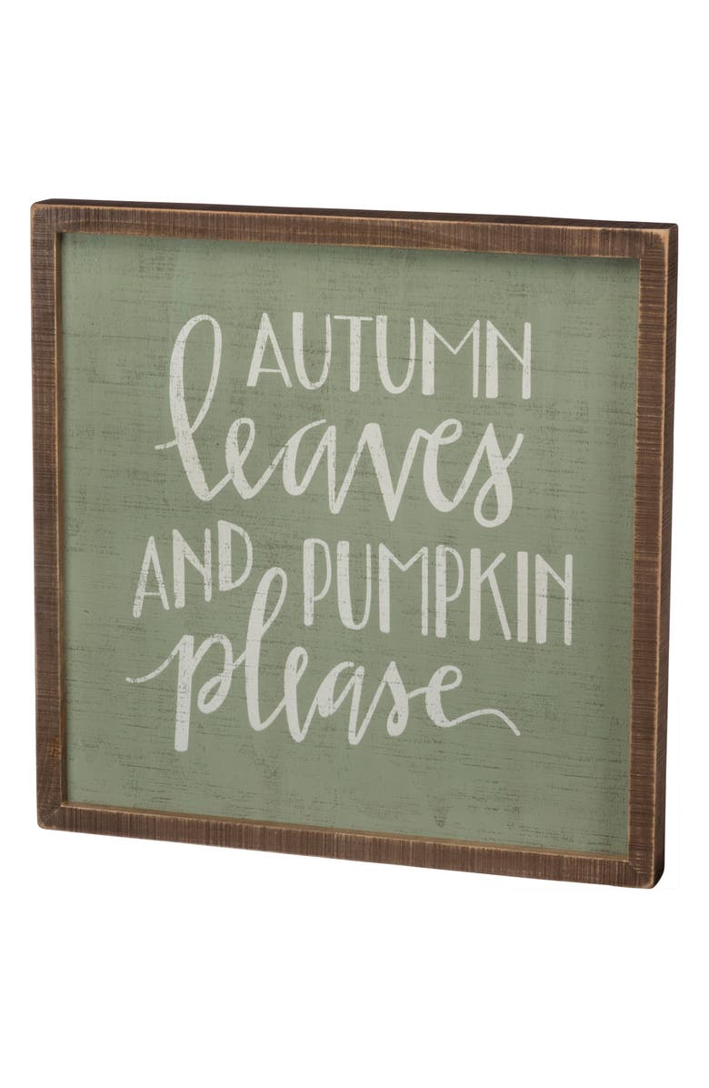Autumn Leaves Box Sign