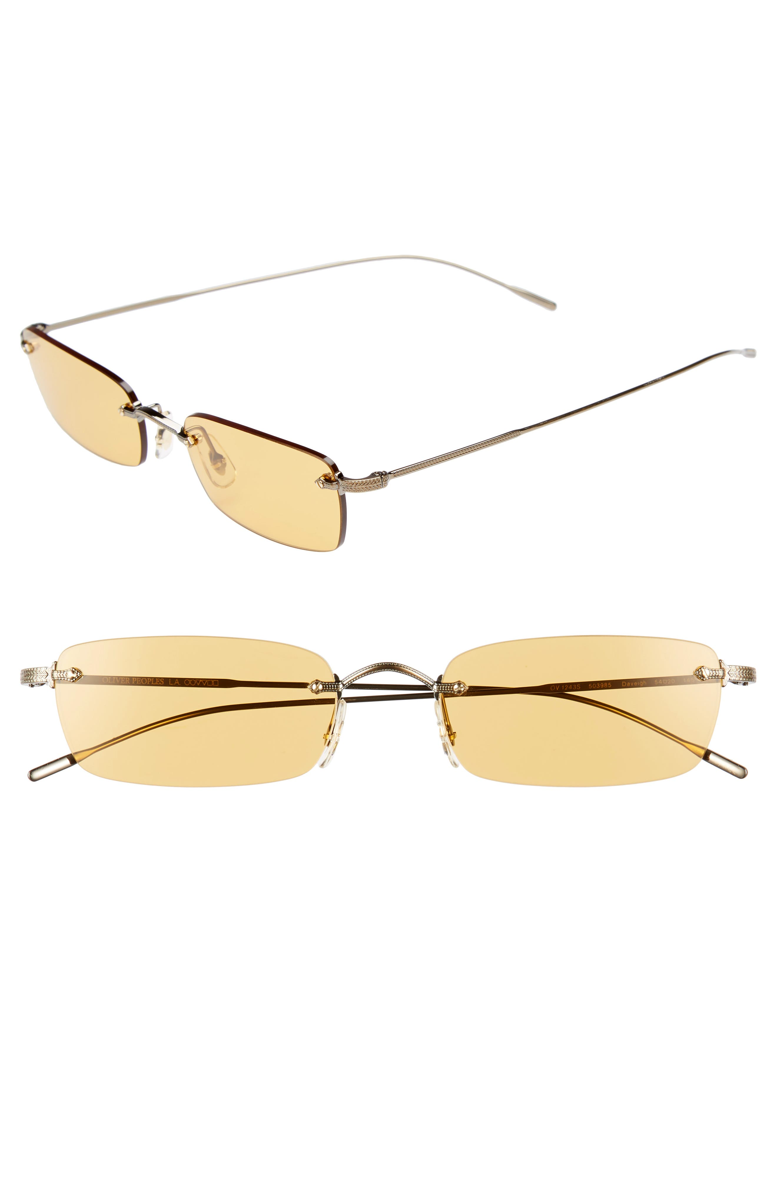 Daveigh 54mm Sunglasses,                         Main,                         color, Mustard