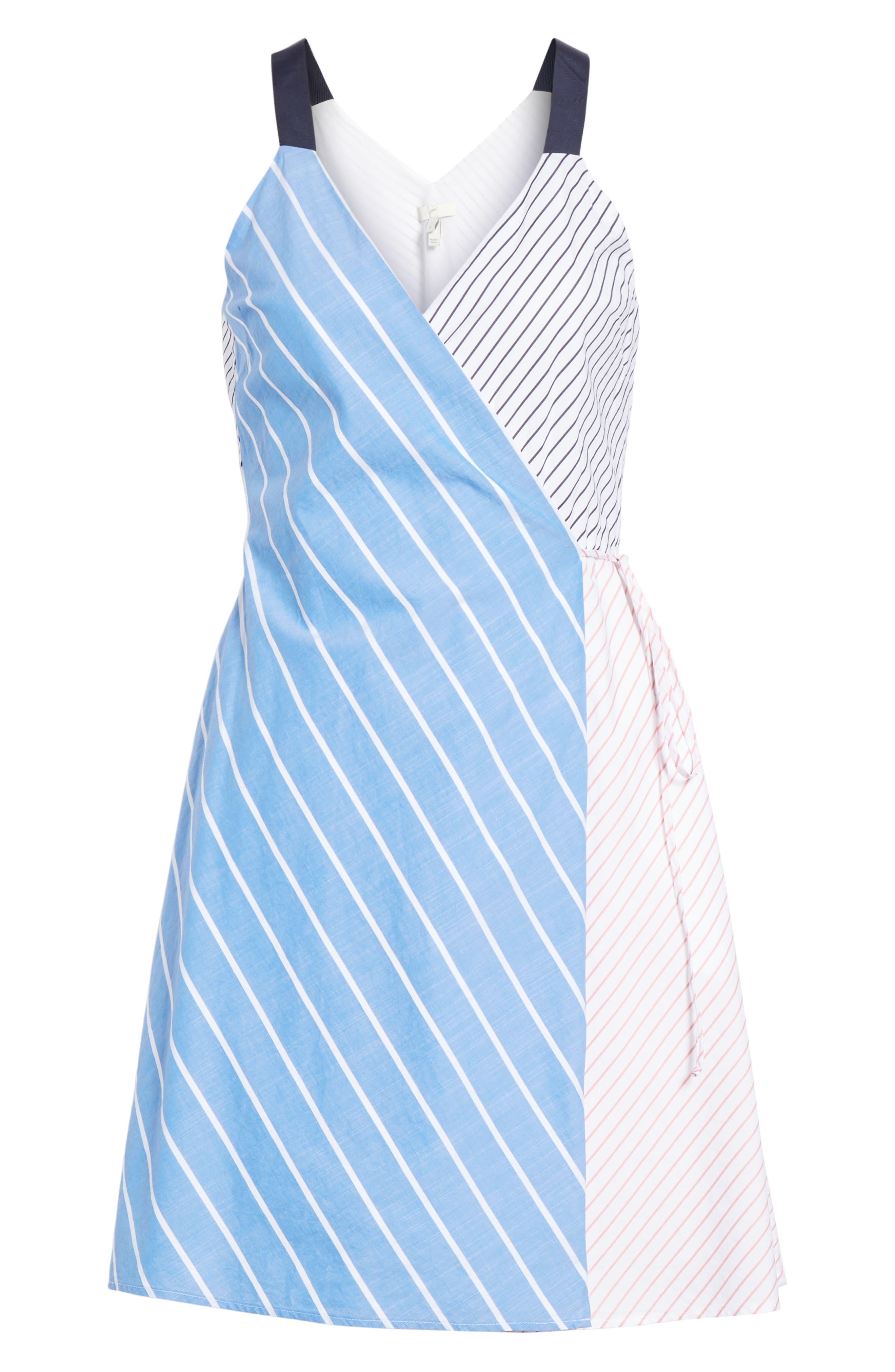 Editha Wrap Style Sundress,                             Alternate thumbnail 6, color,                             Multi