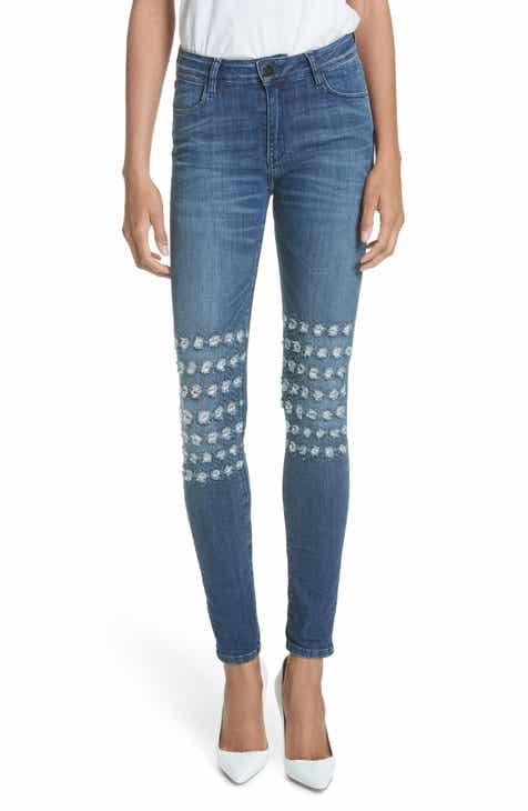 BROCKENBOW Emma Rush Distressed Skinny Jeans (Riviera Blue)