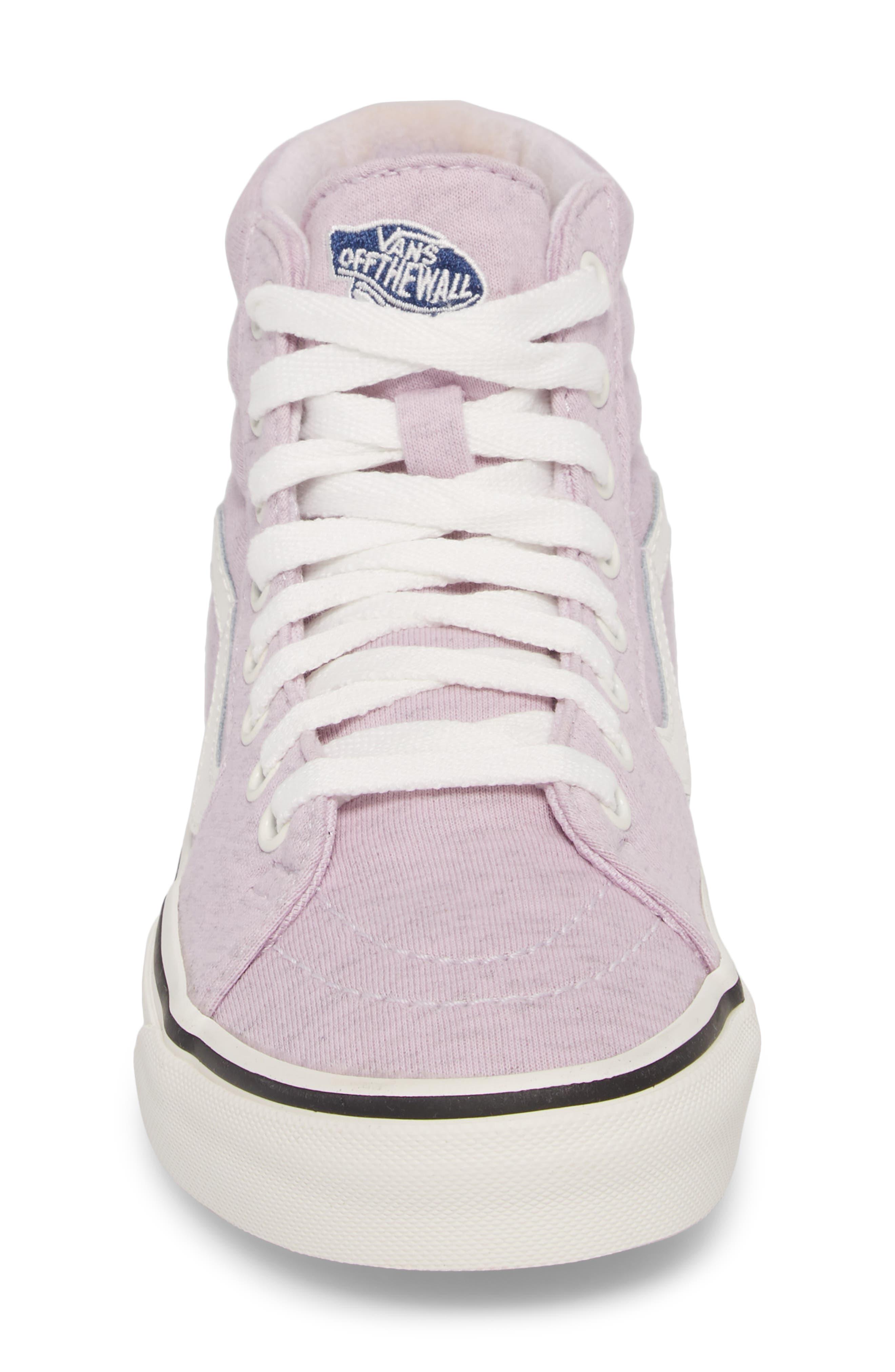 'Sk8-Hi' Sneaker,                             Alternate thumbnail 5, color,                             Lavender Fog/ Snow White