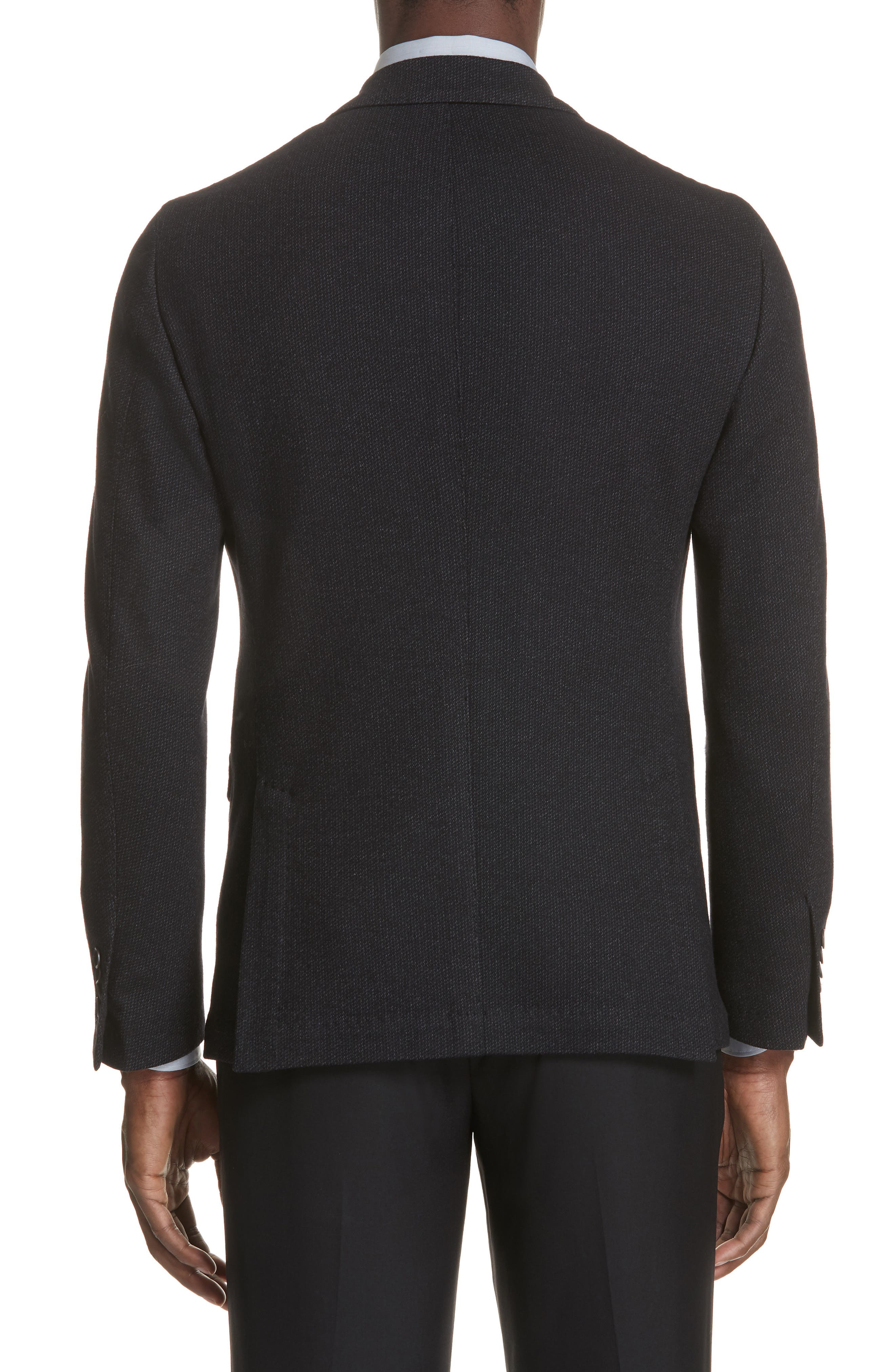 Slim Fit Wool & Cotton Blazer,                             Alternate thumbnail 2, color,                             Grey