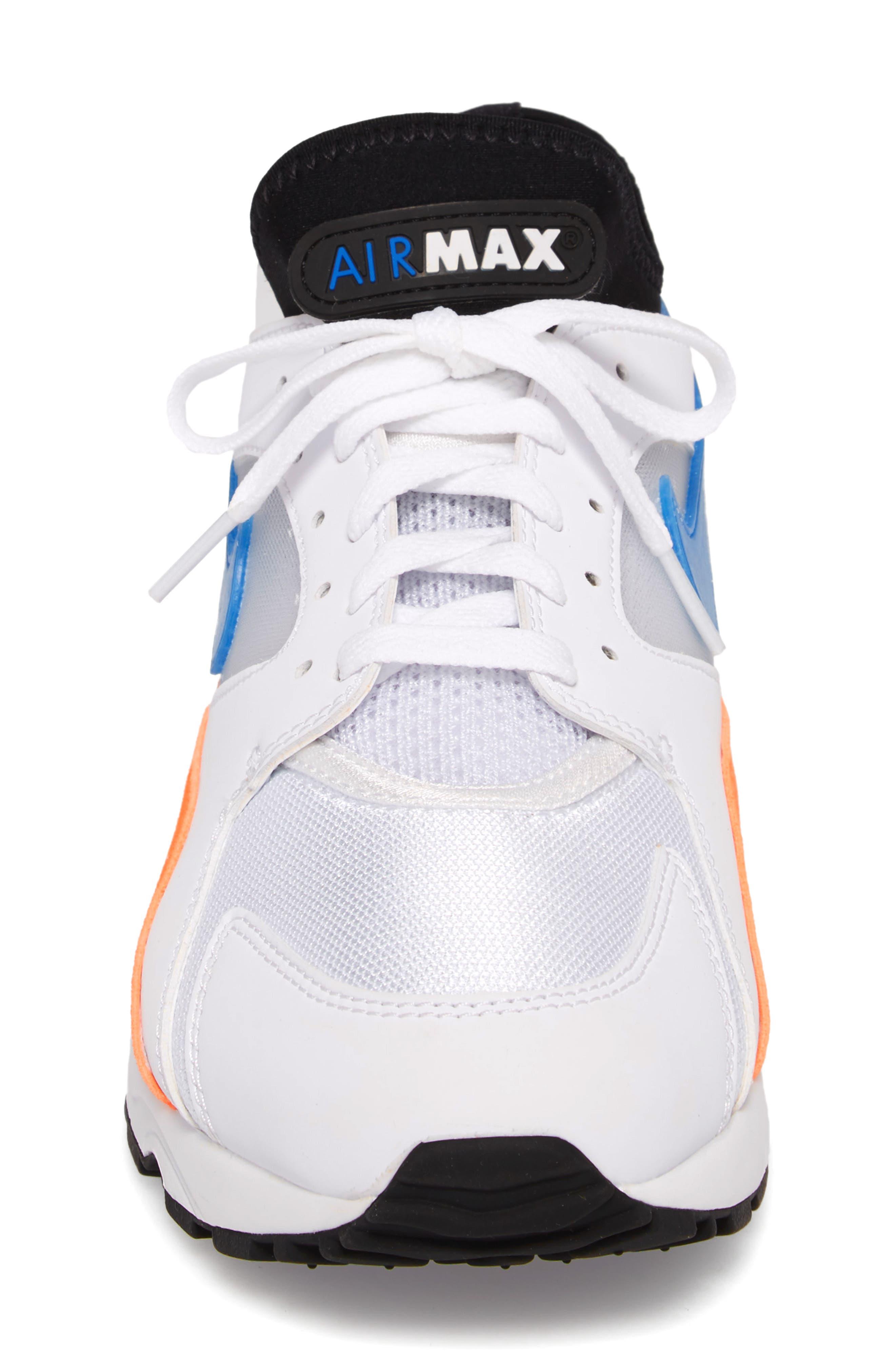 Air Max 93 Sneaker,                             Alternate thumbnail 5, color,                             White/ Blue Nebula/ Orange