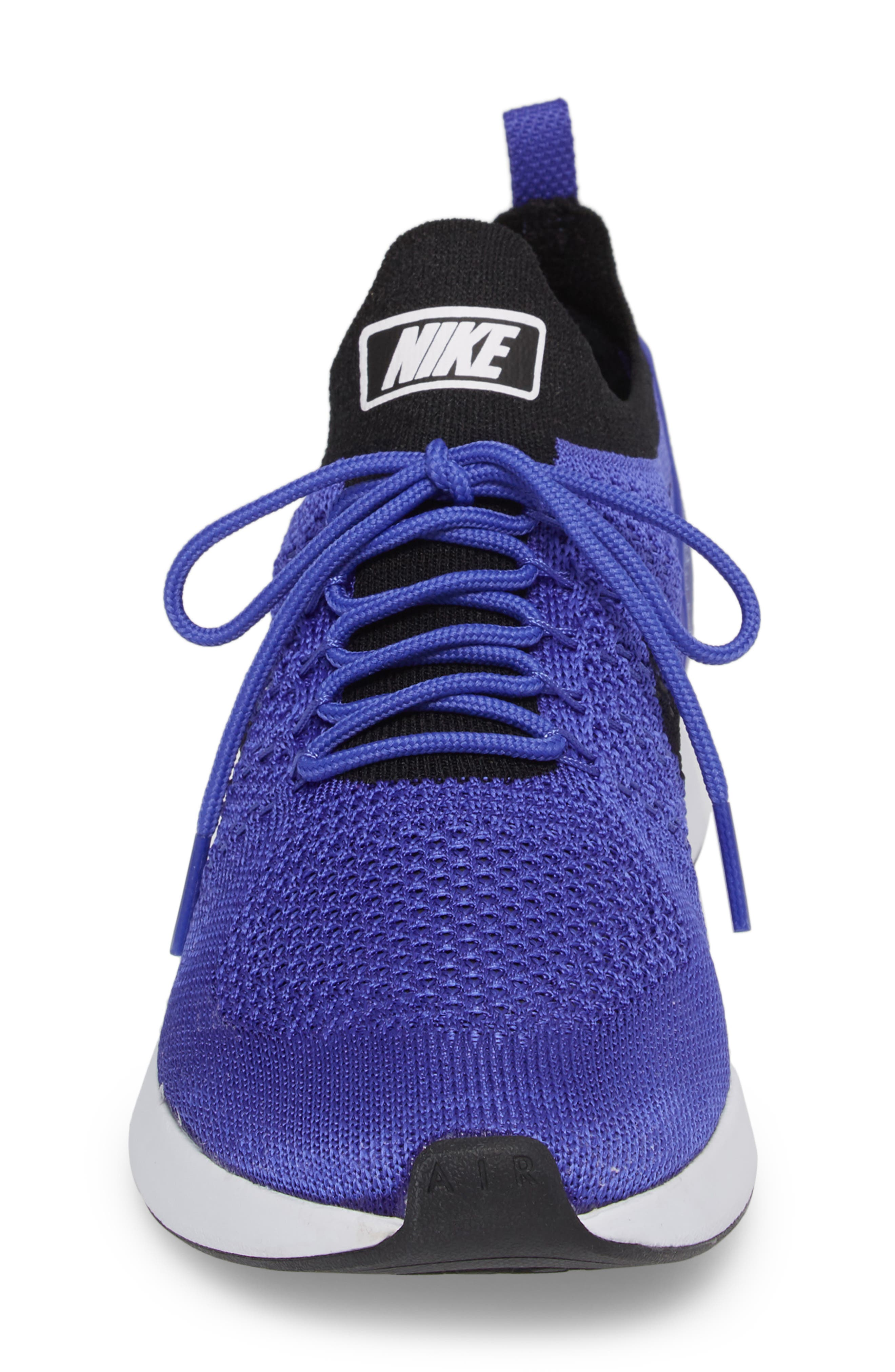 Air Zoom Mariah Flyknit Racer Sneaker,                             Alternate thumbnail 4, color,                             Violet/ Black/ White