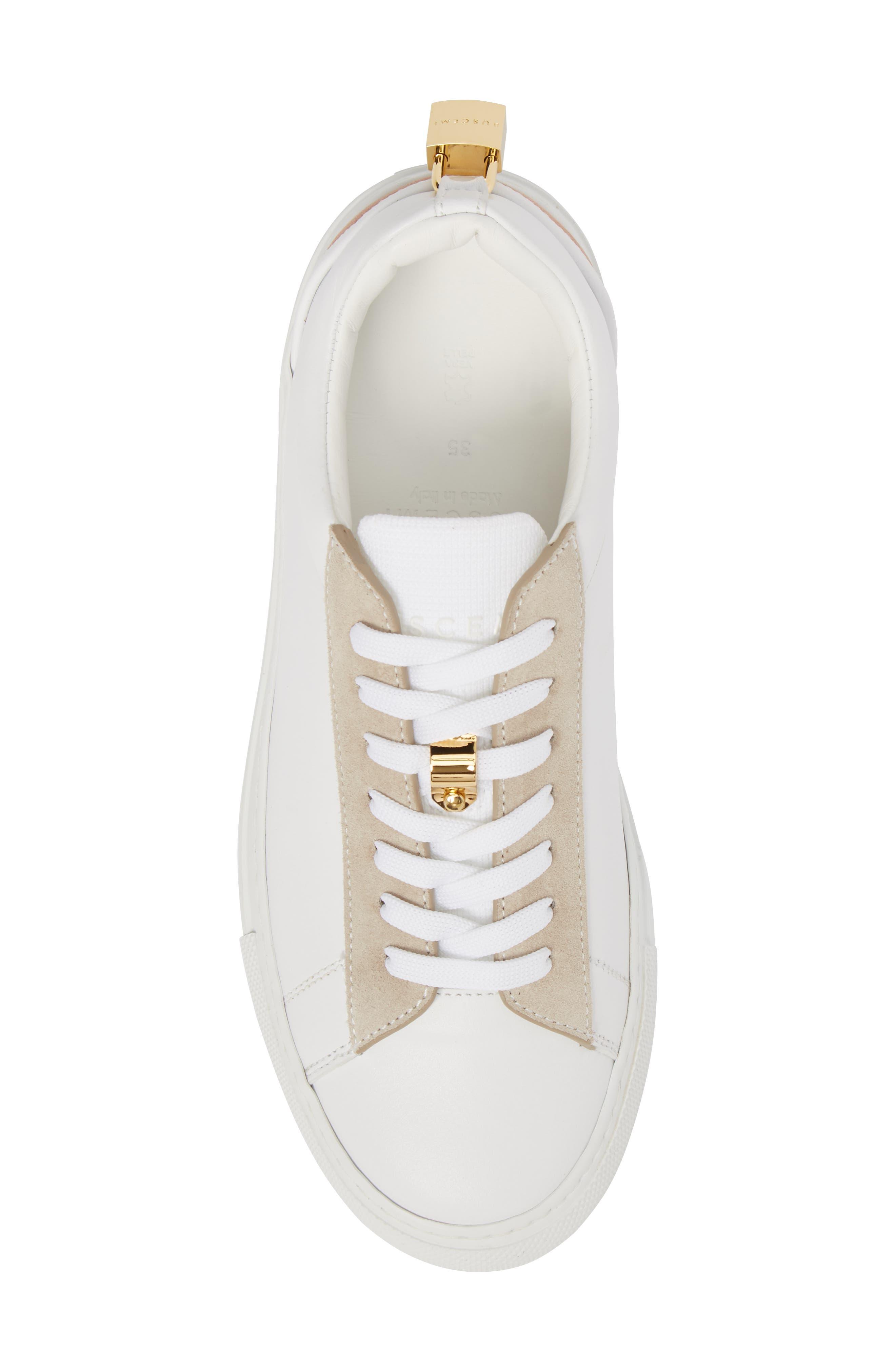 Tennis Lock Sneaker,                             Alternate thumbnail 5, color,                             White/ Dusty Pink