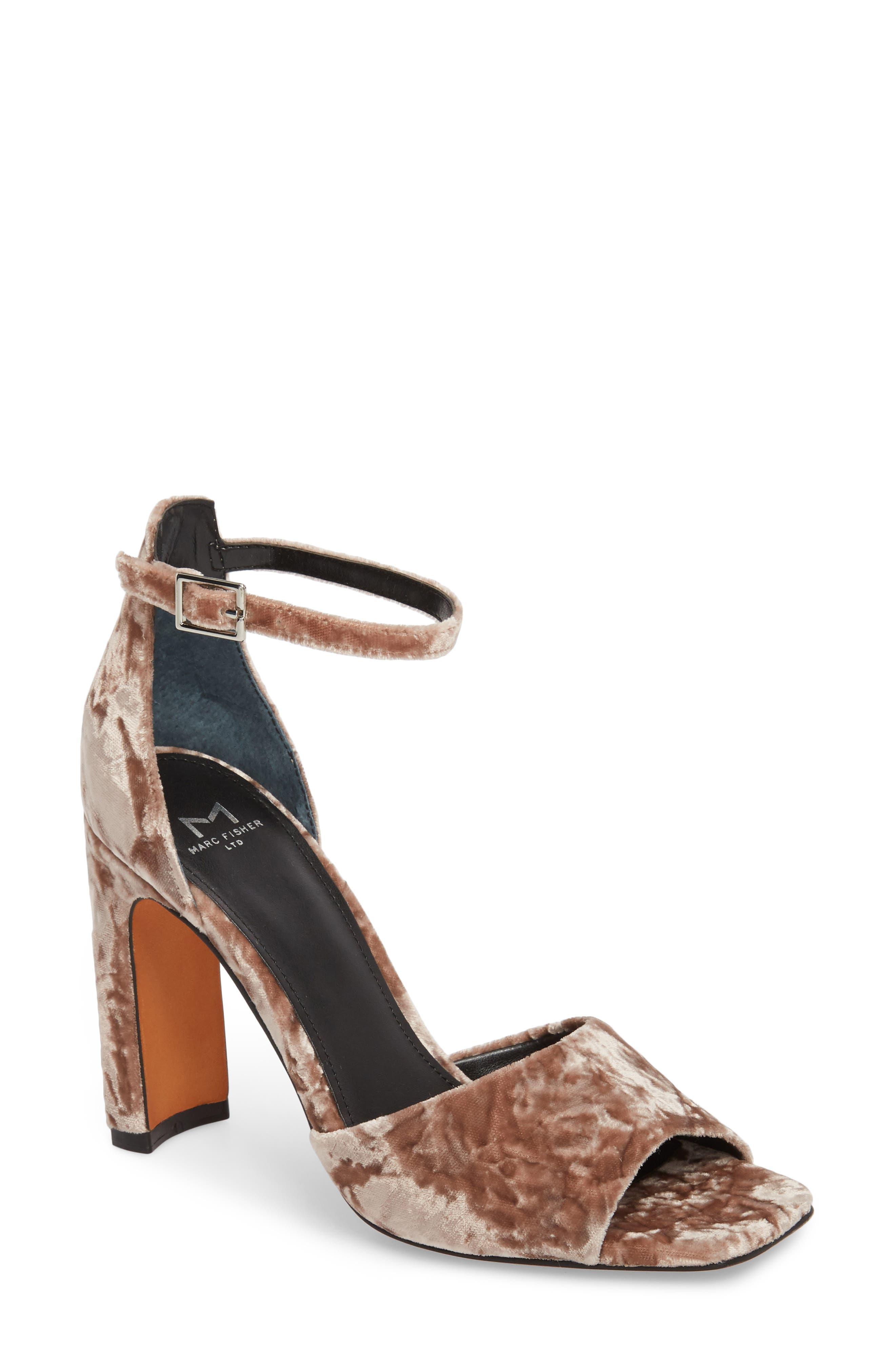 Harlin Ankle Strap Sandal,                             Main thumbnail 1, color,                             Light Pink Fabric
