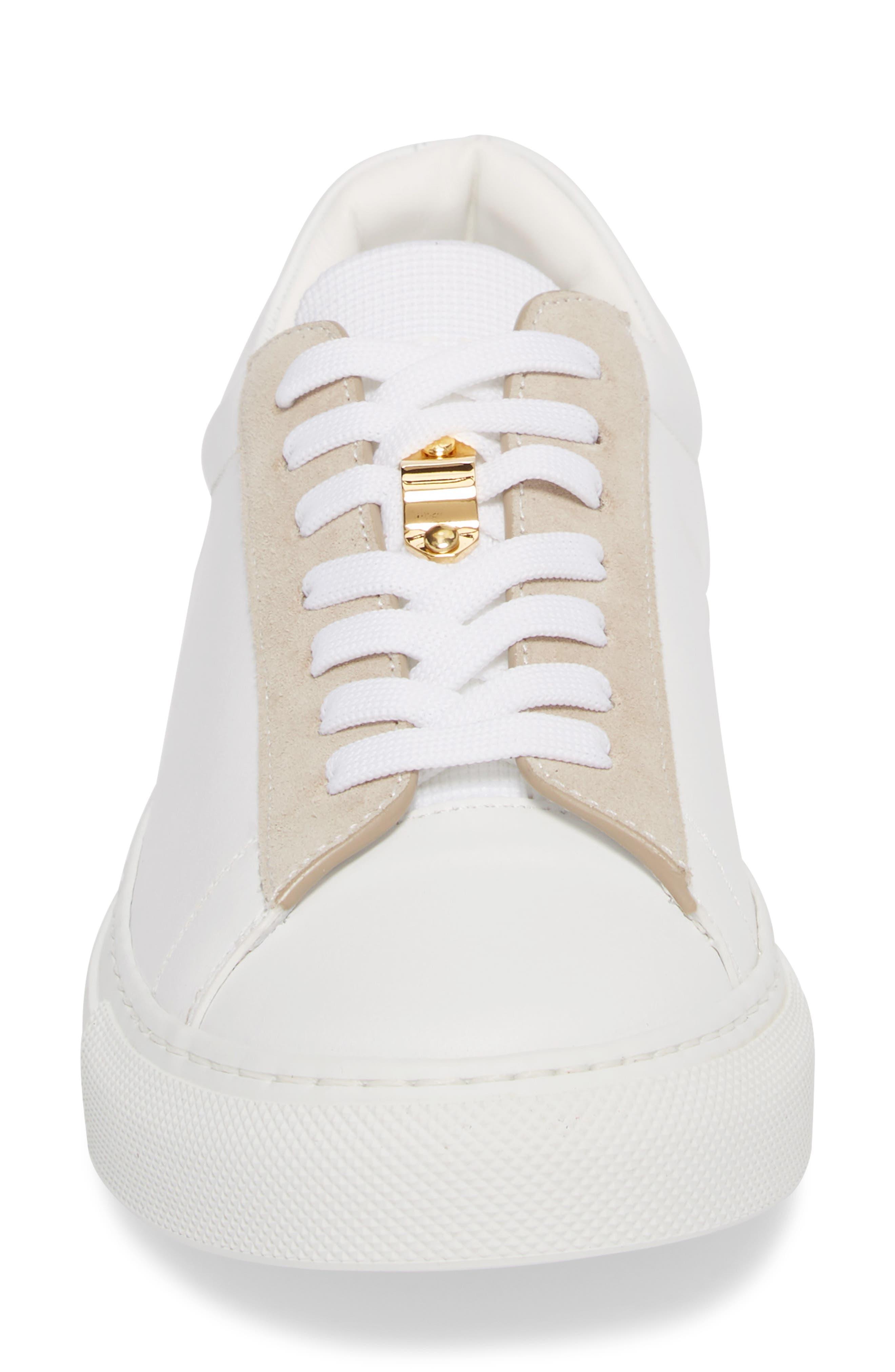 Tennis Lock Sneaker,                             Alternate thumbnail 6, color,                             White/ Dusty Pink