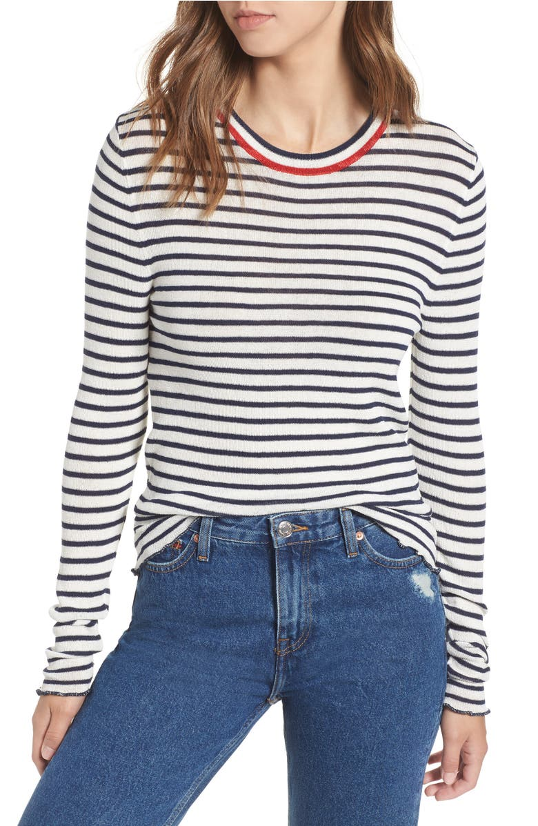 Lettuce Edge Stripe Sweater