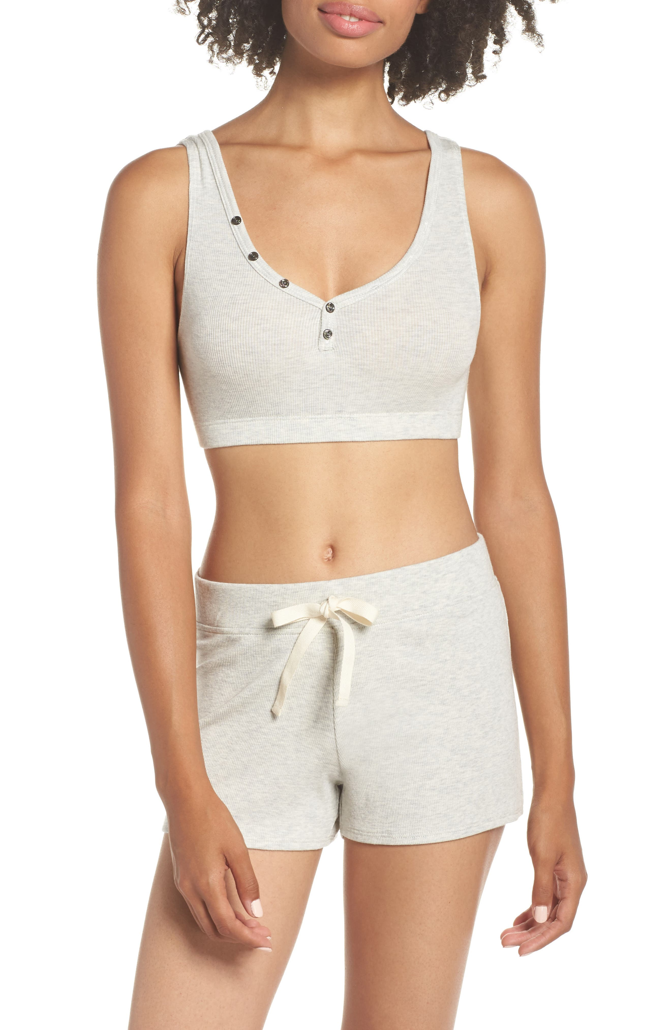Daydream Lounge Shorts,                             Alternate thumbnail 6, color,                             Grey Heather