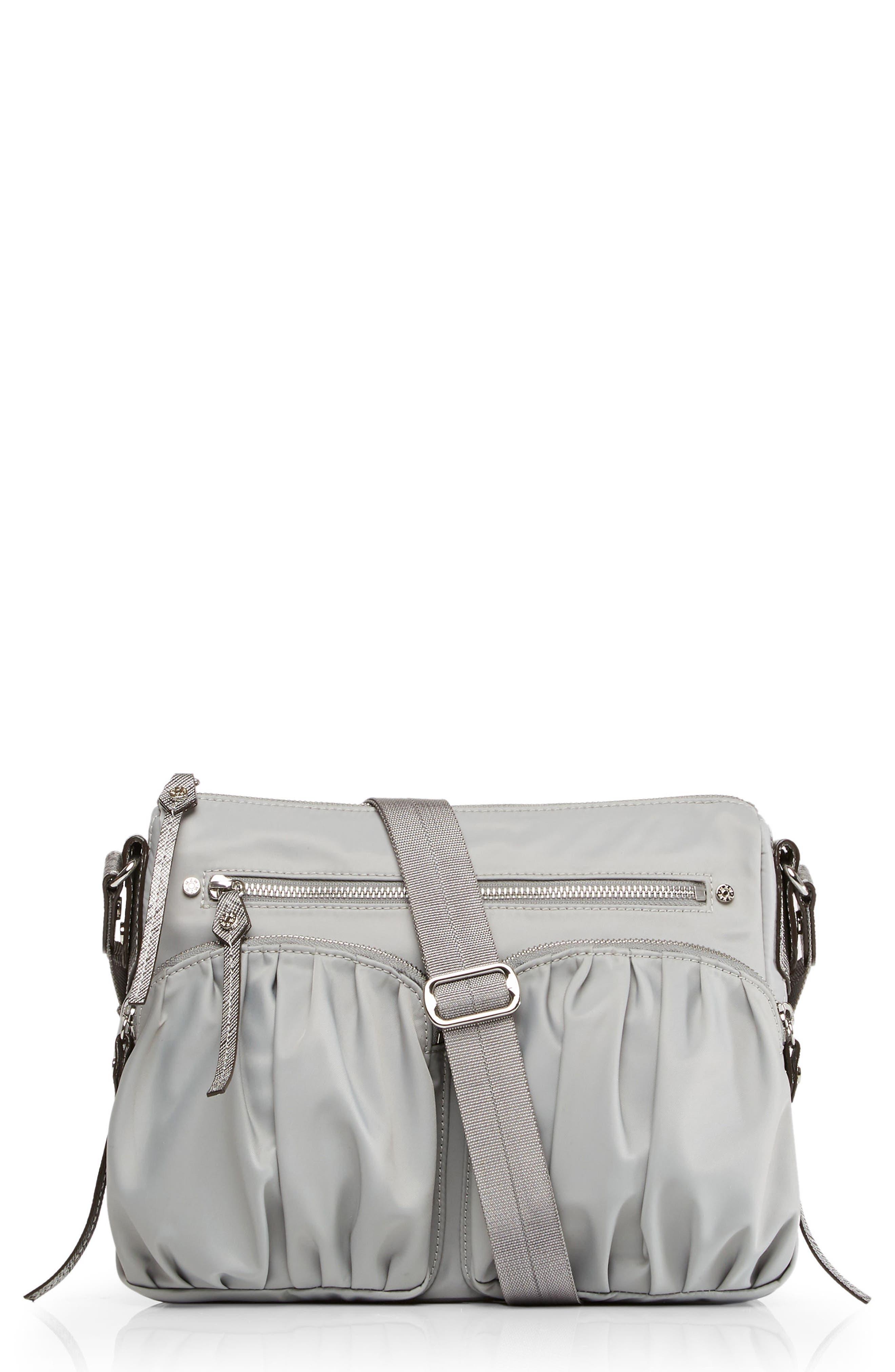 Paige Crossbody Bag,                         Main,                         color, Dove Grey