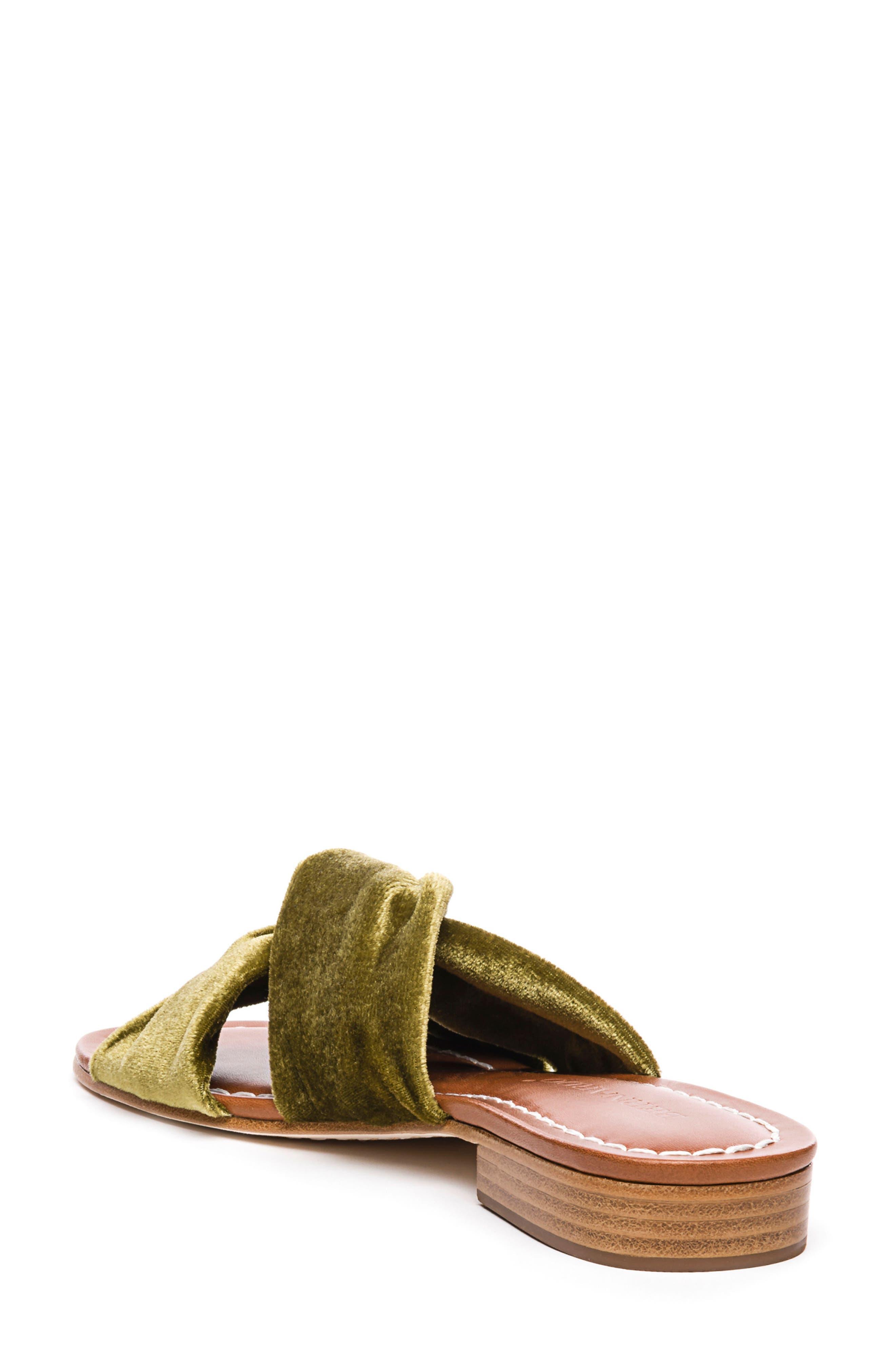 Bernardo Tiffany Knotted Slide Sandal,                             Alternate thumbnail 2, color,                             Clasico Velvet