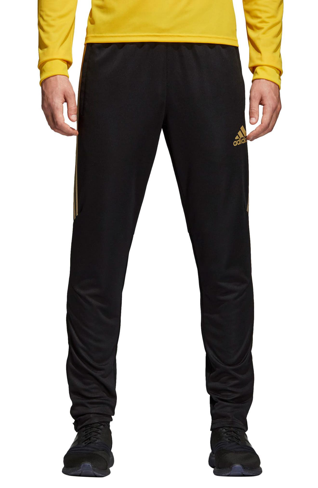 Adidas Men's Tiro Metallic Soccer Pants in BlackGold