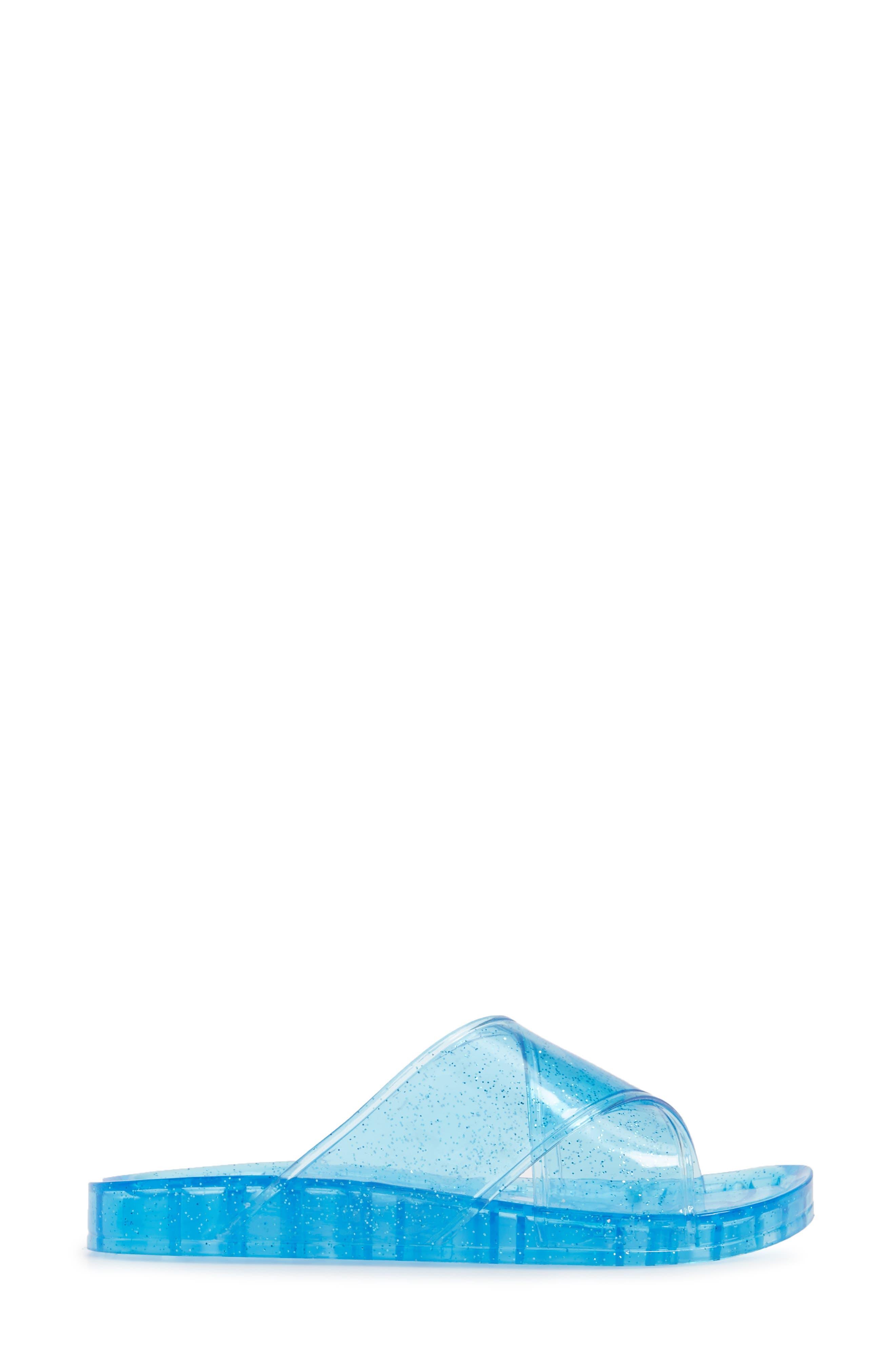 Roxy Jelly Slide Sandal,                             Alternate thumbnail 3, color,                             Blue