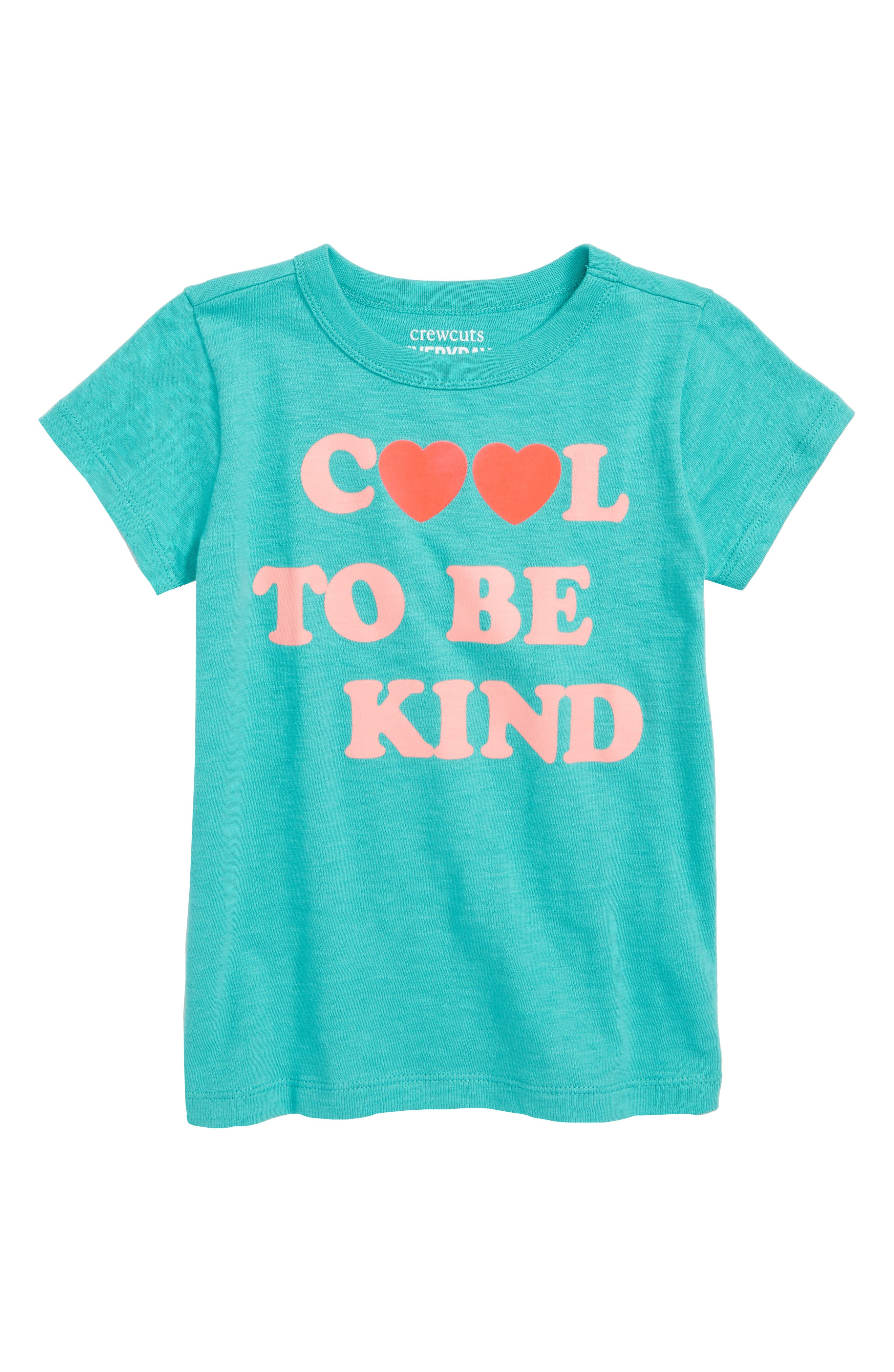 crewcuts by J. Crew Cool to Be Kind Graphic Tee,                             Main thumbnail 1, color,                             Emerald Sea